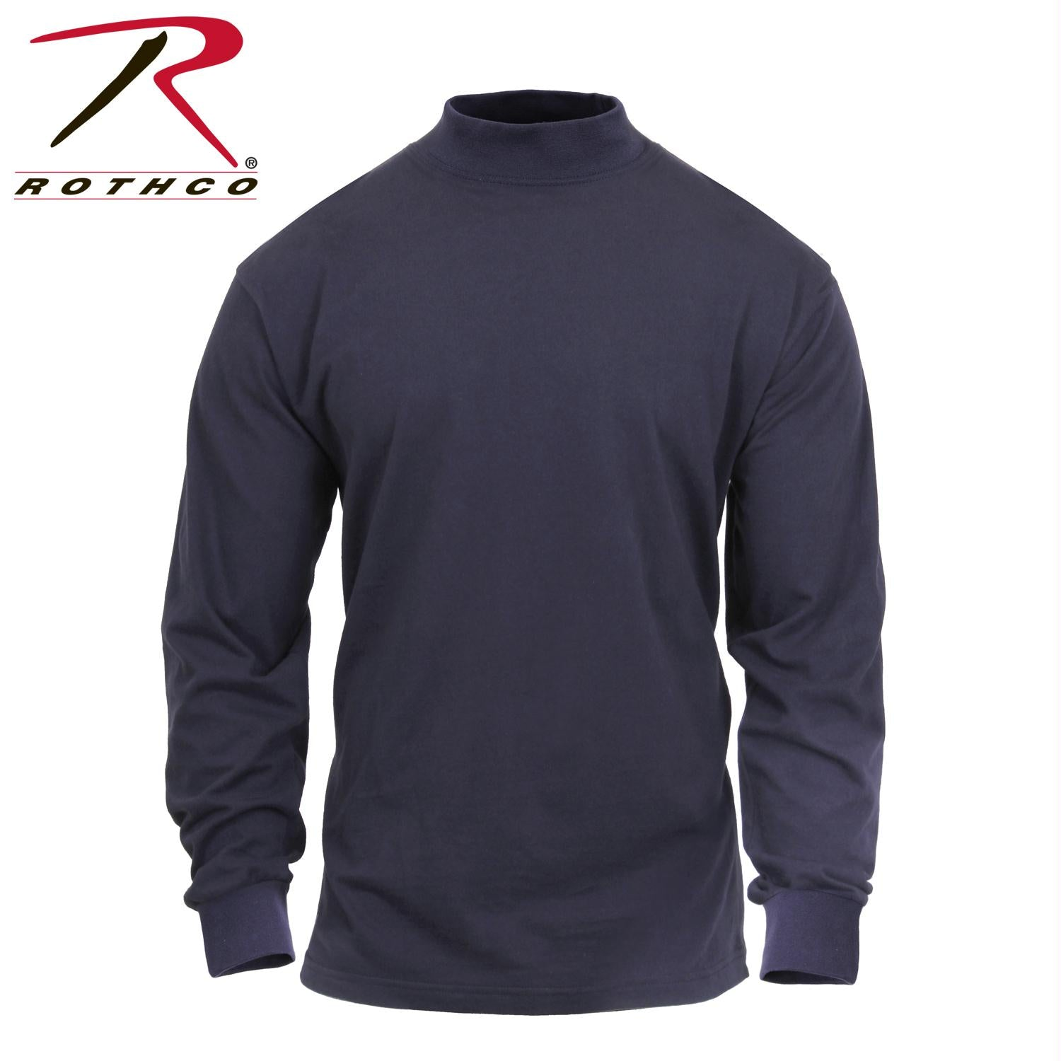 Rothco Mock Turtleneck - Midnight Navy Blue / S