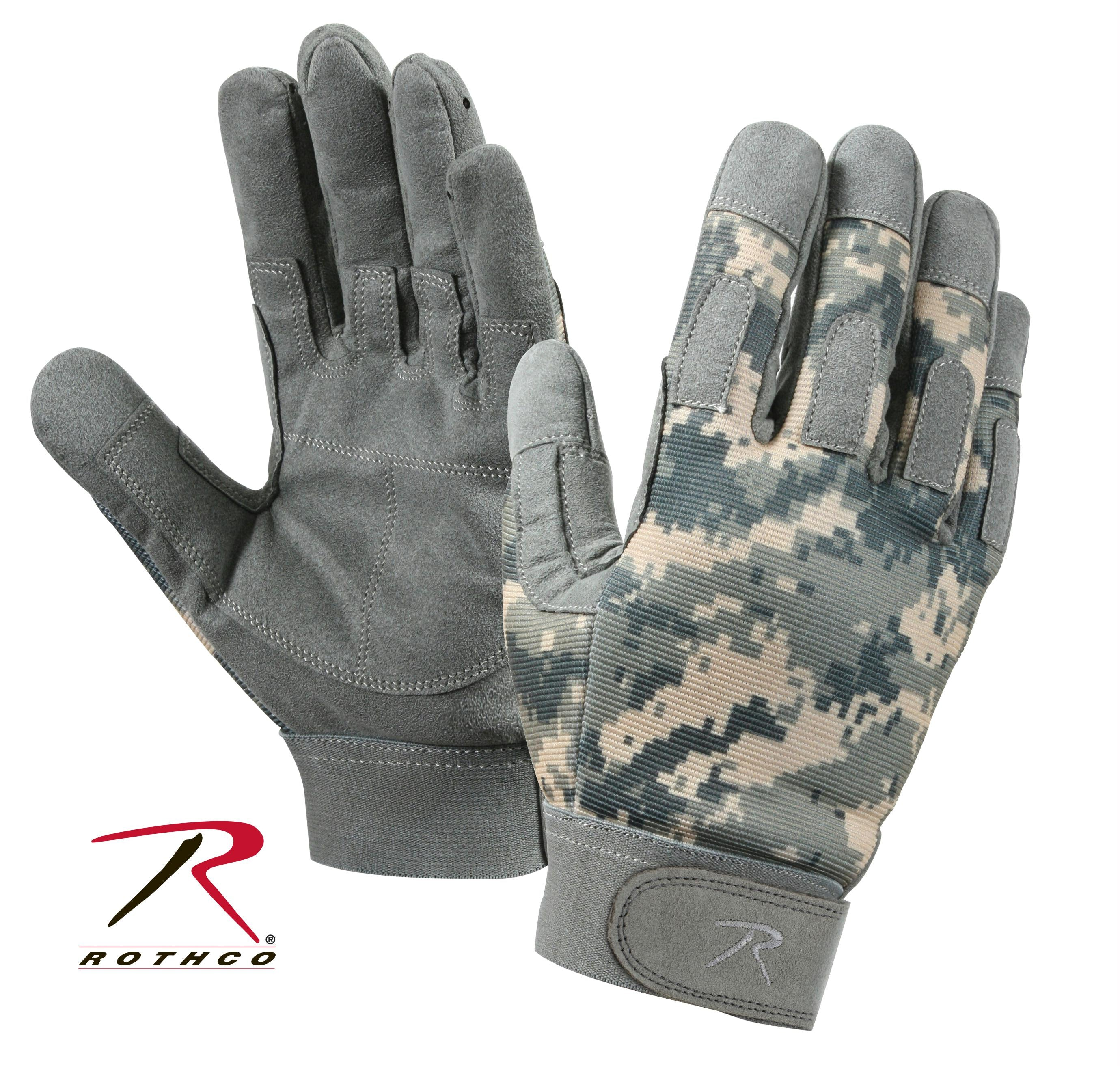 Rothco Lightweight All Purpose Duty Gloves - ACU Digital Camo / L