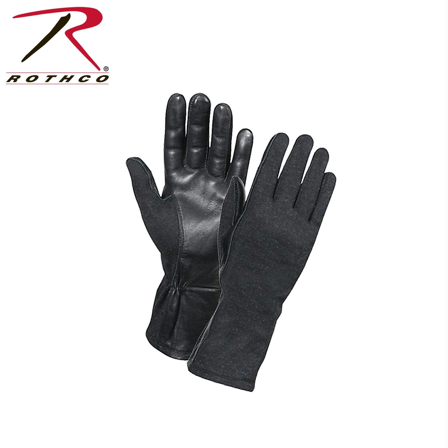 Rothco G.I. Type Flame & Heat Resistant Flight Gloves - Black / 10