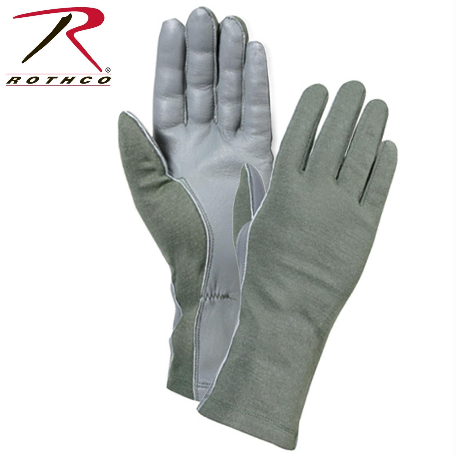 Rothco G.I. Type Flame & Heat Resistant Flight Gloves - Olive Drab / 10