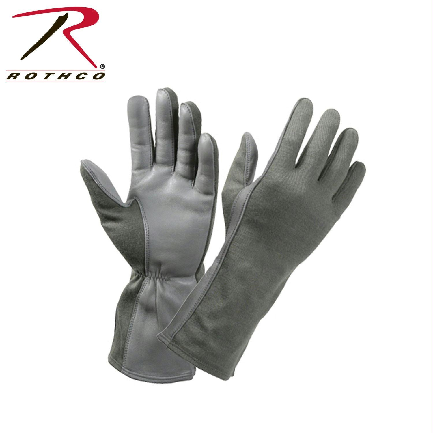Rothco G.I. Type Flame & Heat Resistant Flight Gloves - Foliage Green / 10