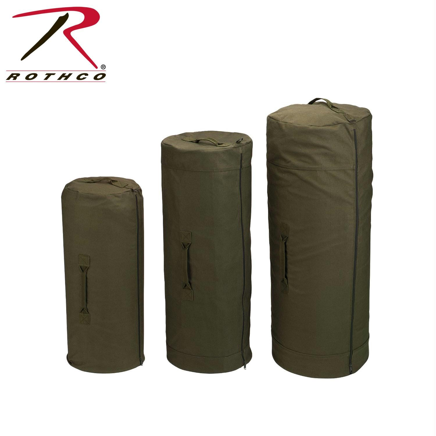 Rothco Canvas Duffle Bag w/ Side Zipper - Olive Drab / 25