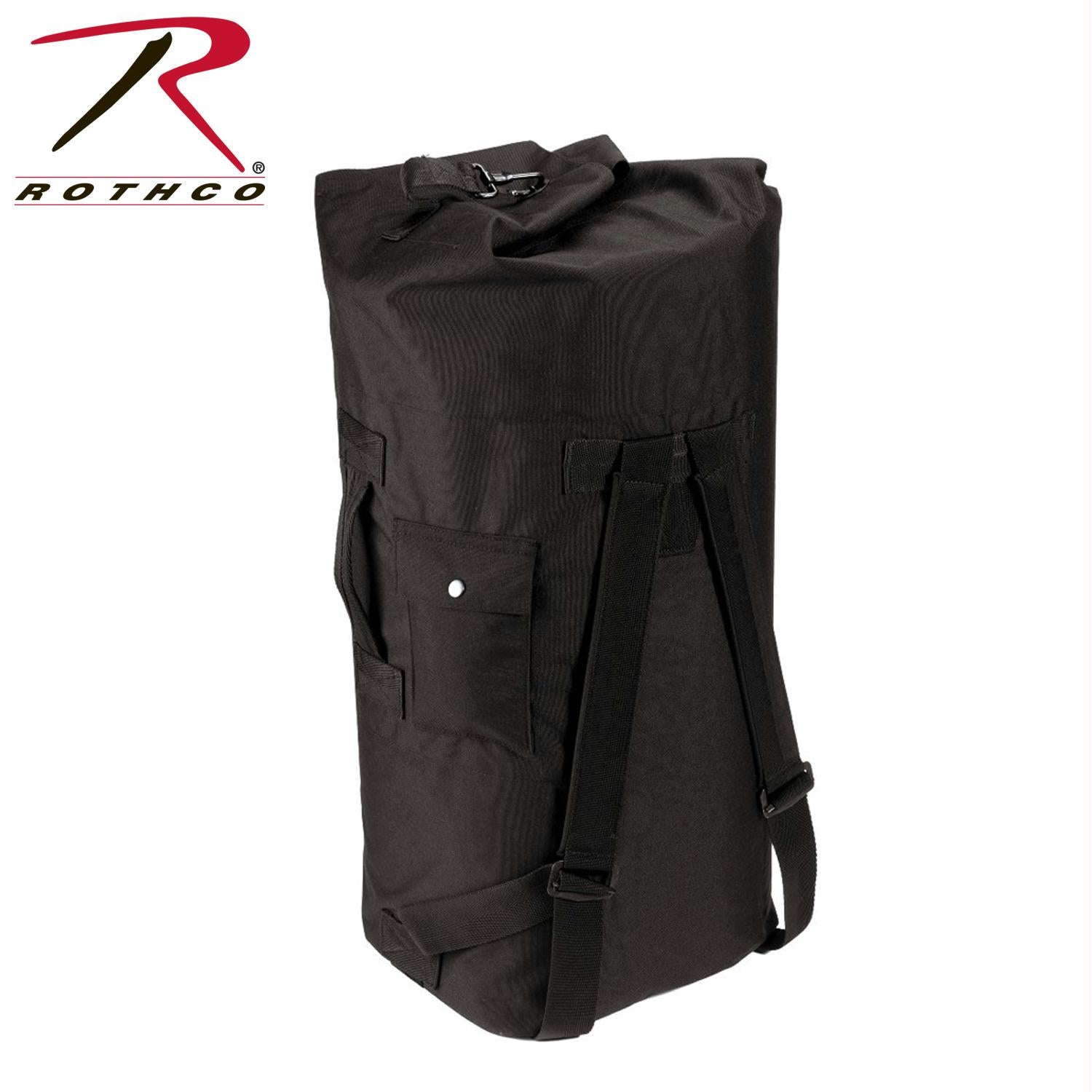 Rothco G.I. Type Enhanced Double Strap Duffle Bag - Black