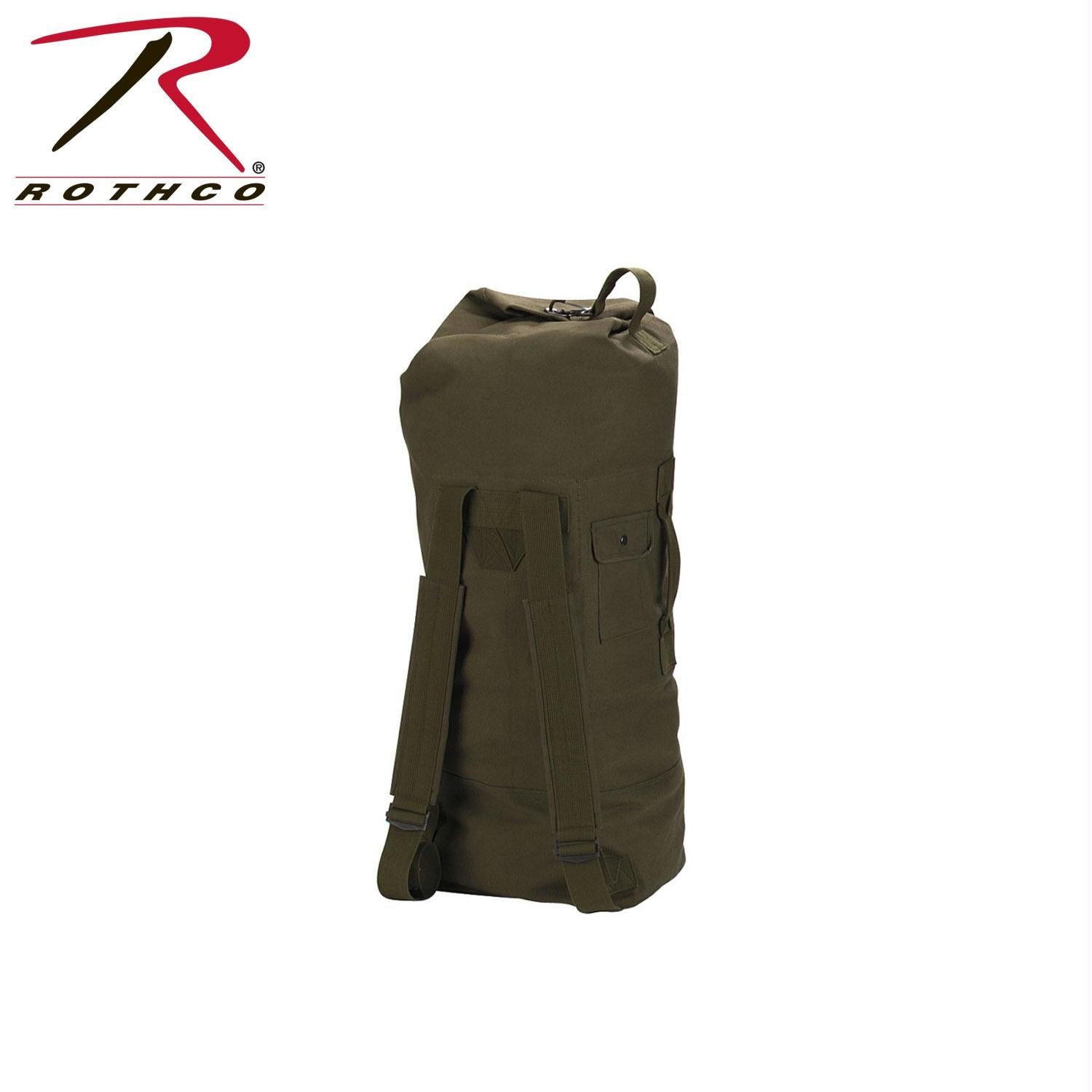 Rothco G.I. Style Canvas Double Strap Duffle Bag - Olive Drab