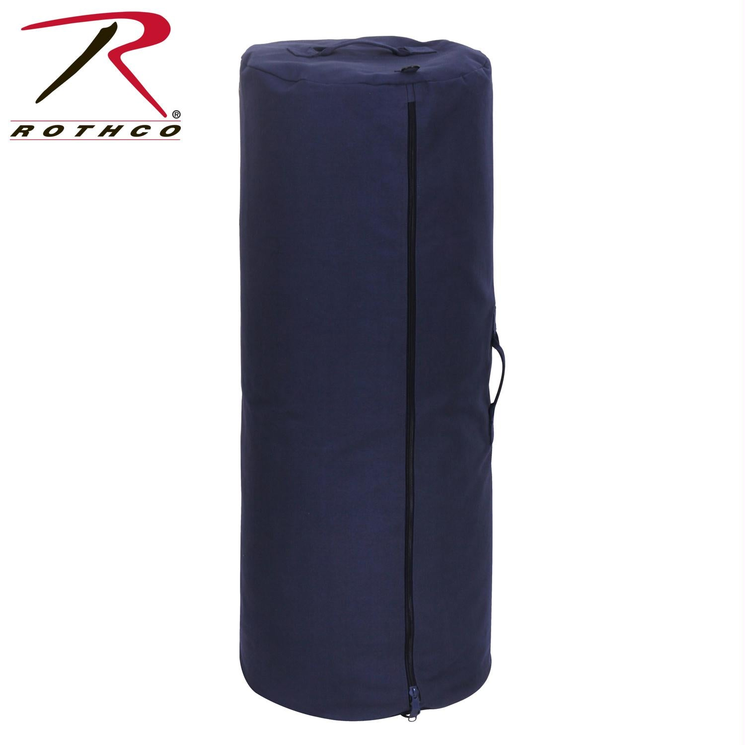 Rothco Canvas Duffle Bag w/ Side Zipper - Navy Blue / 30