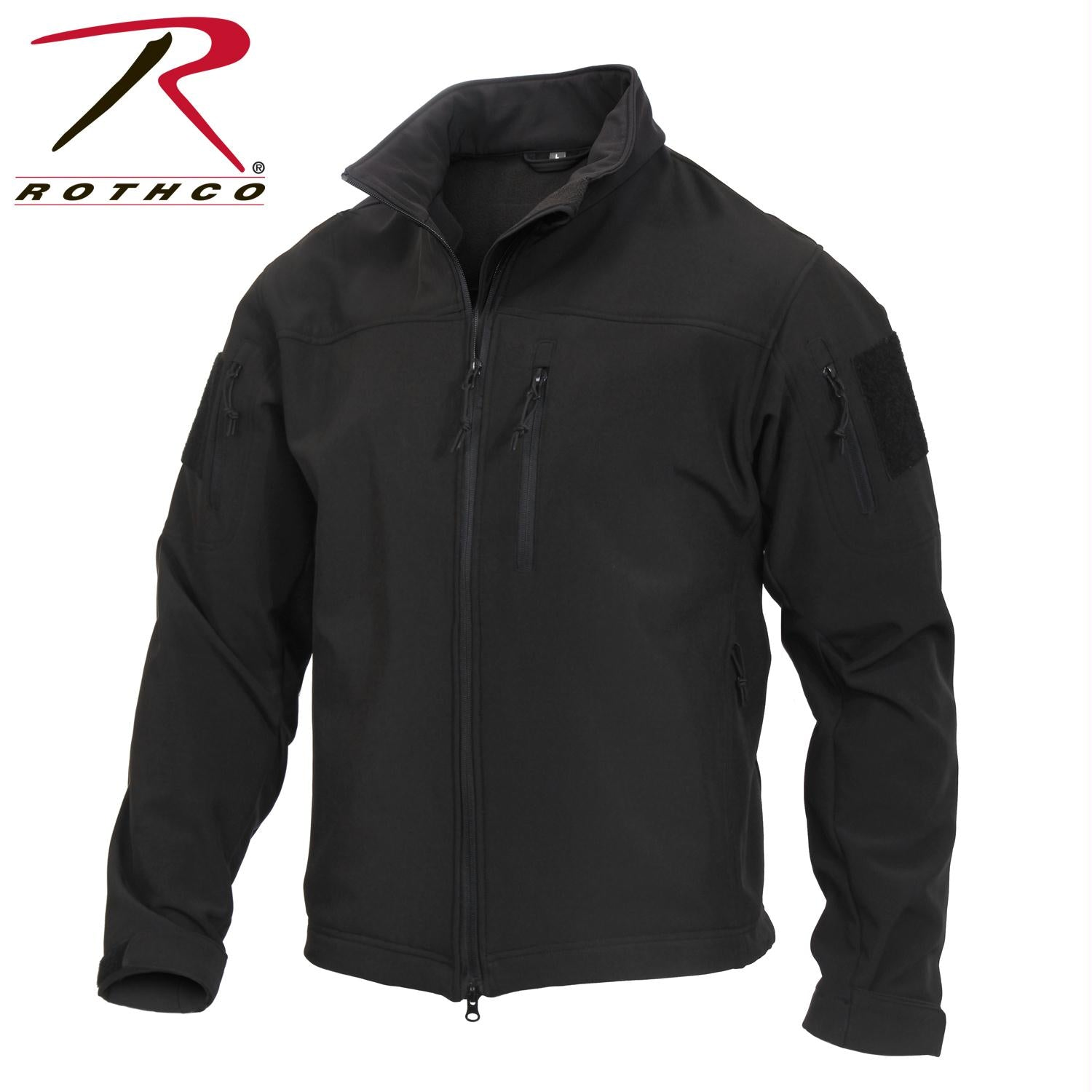 Rothco Stealth Ops Soft Shell Tactical Jacket - Black / XL