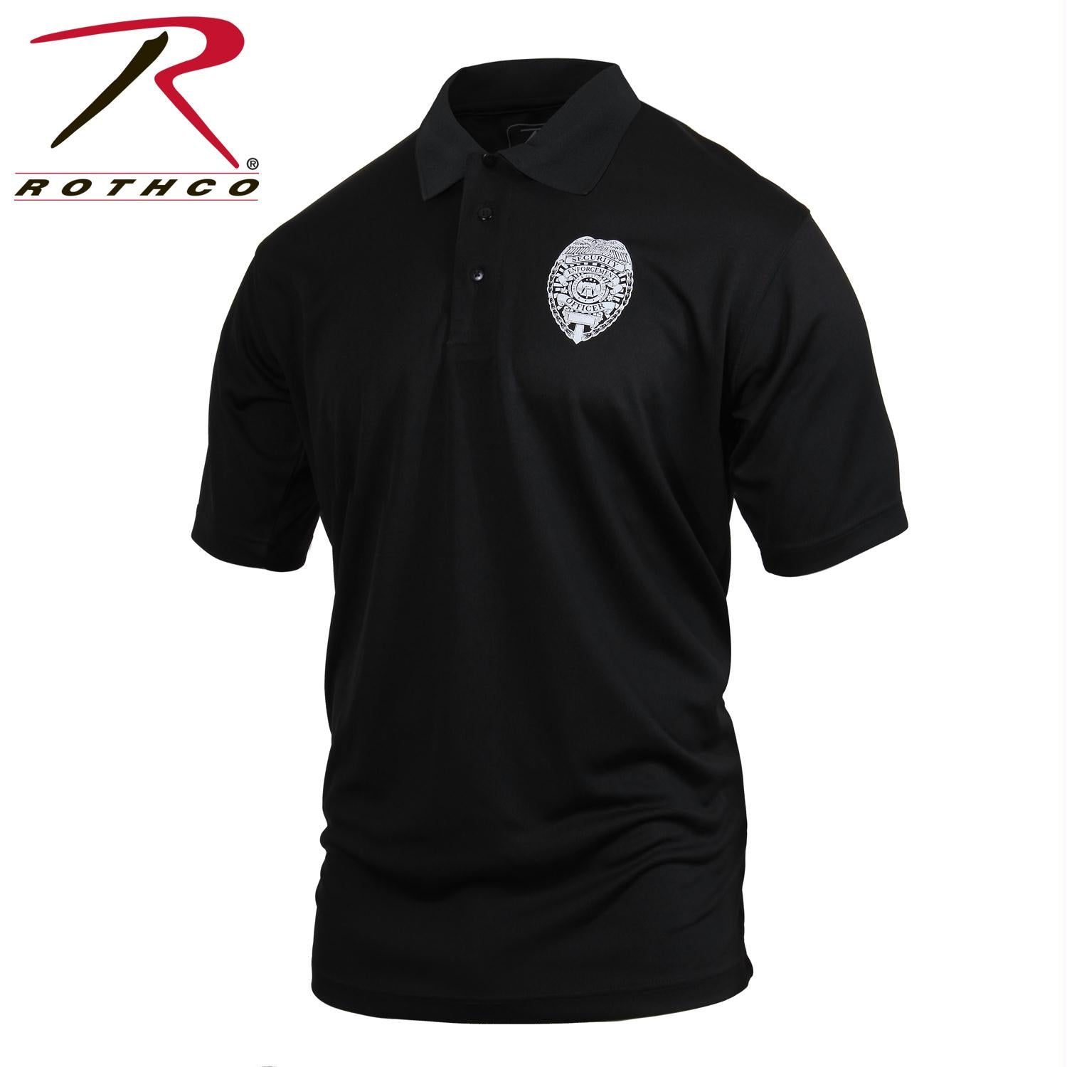 Rothco Moisture Wicking Security Polo Shirt With Badge - S