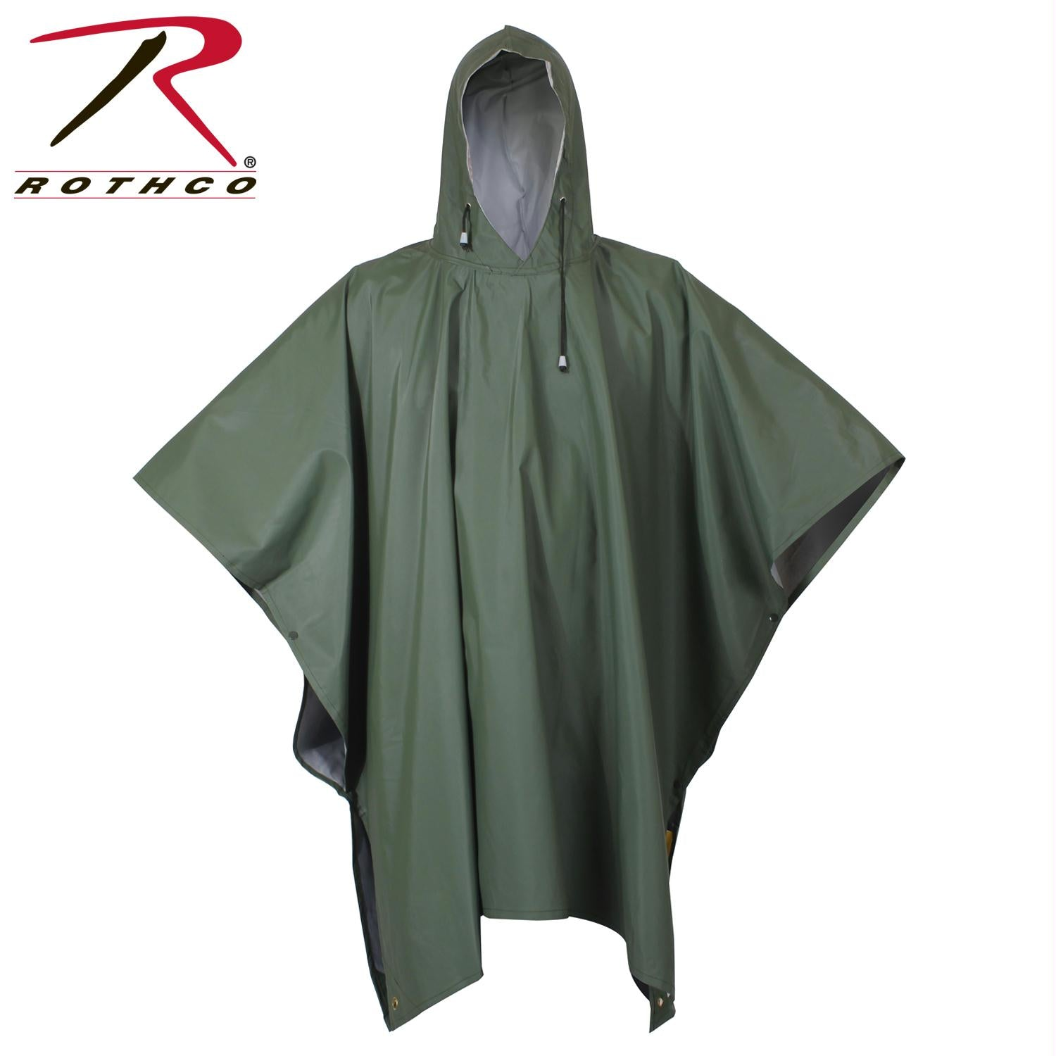 Rothco O.D Rubber Poncho - Olive Drab / One Size