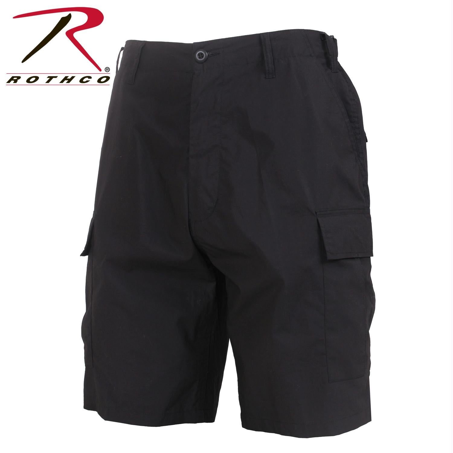 Rothco Lightweight Tactical BDU Shorts - Black / S