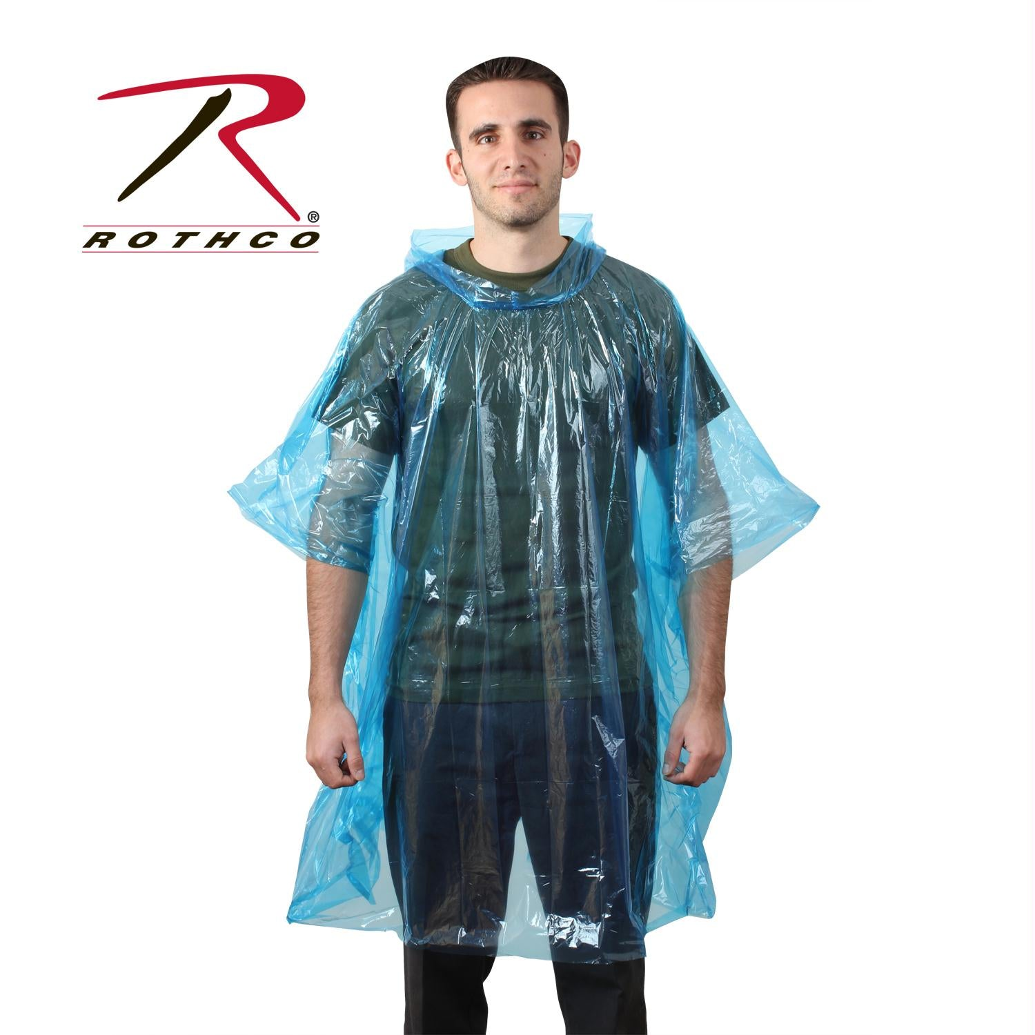 Rothco All Weather Emergency Poncho - Blue