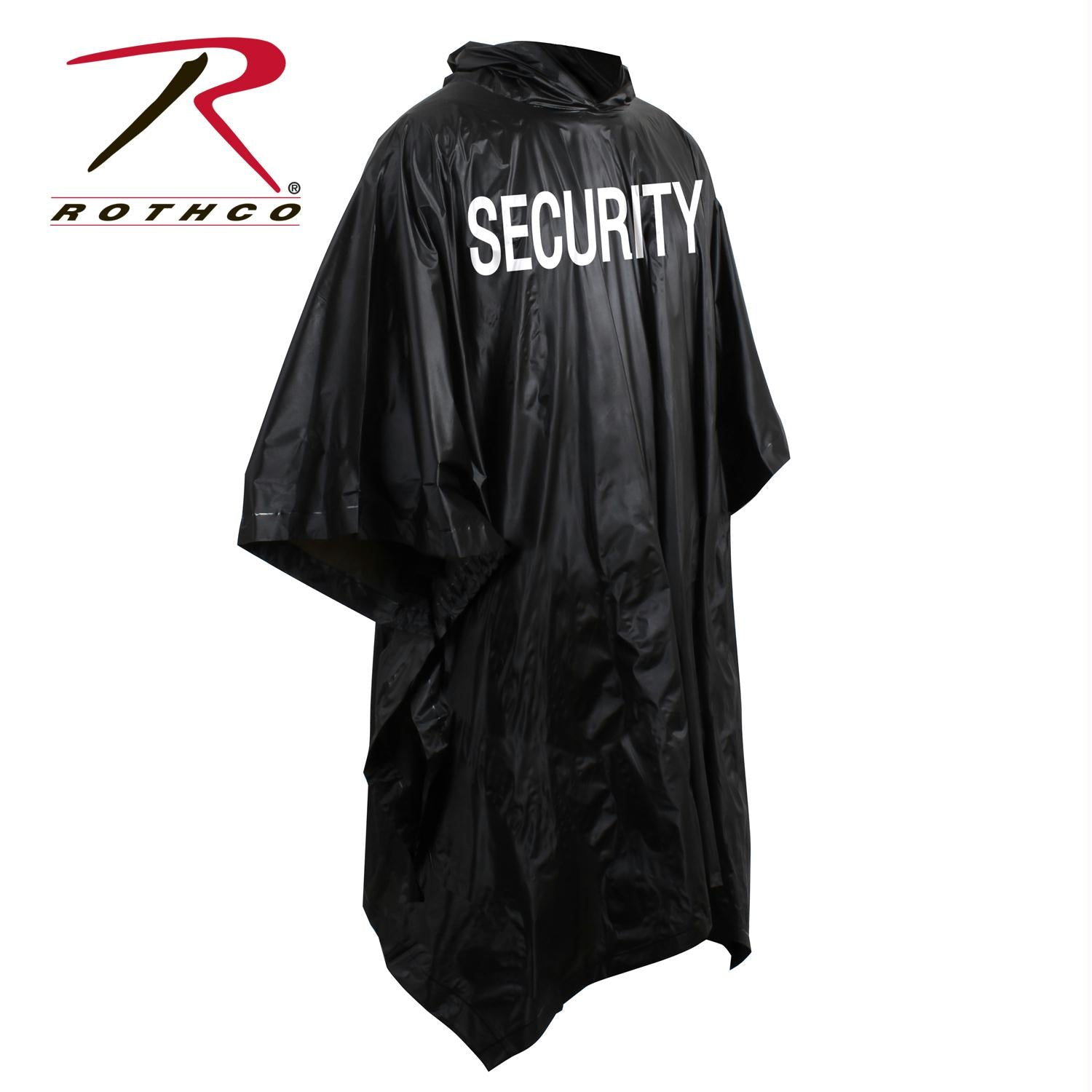 Rothco Security Poncho - Black / One Size