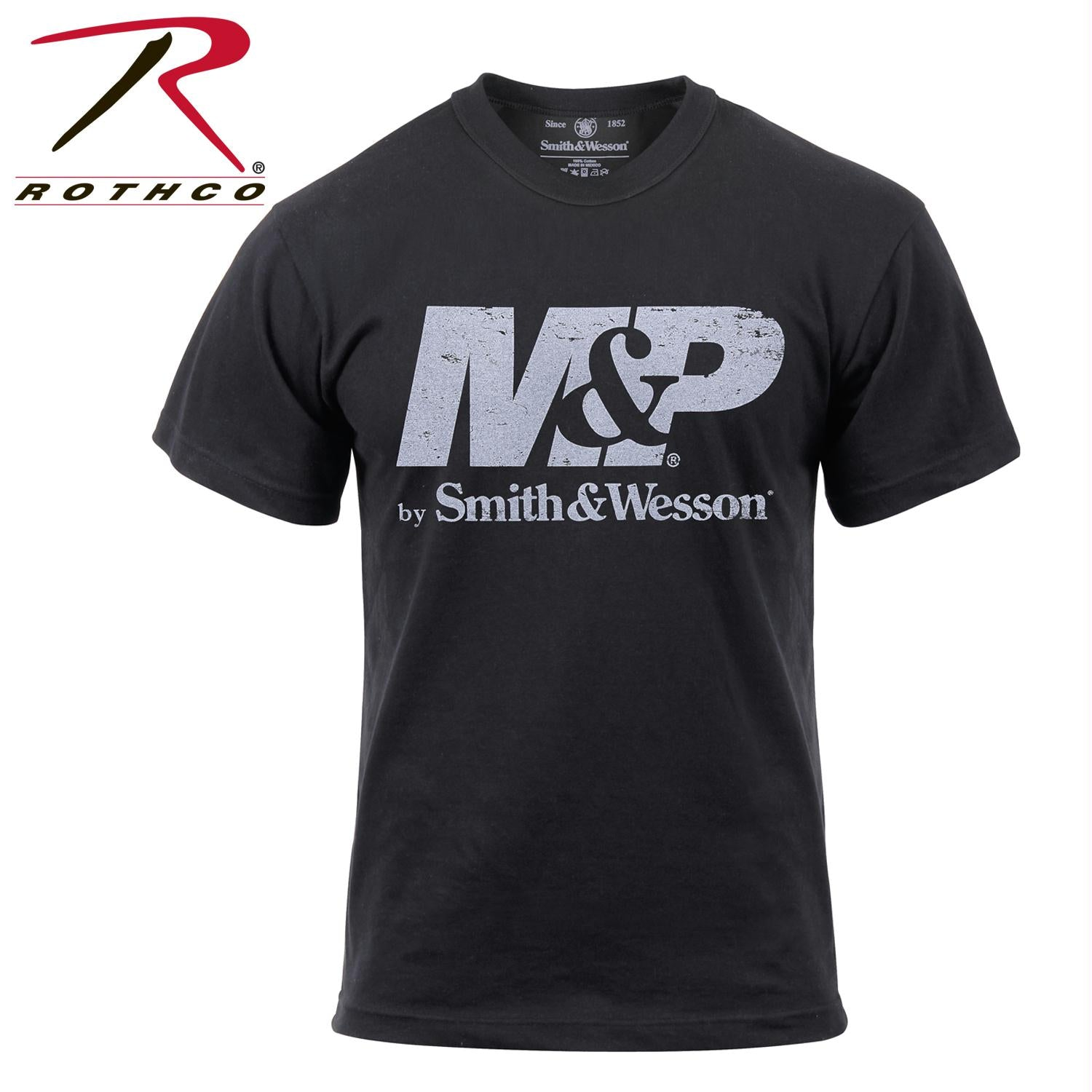 Smith & Wesson Distressed M&P Logo T-Shirt - L
