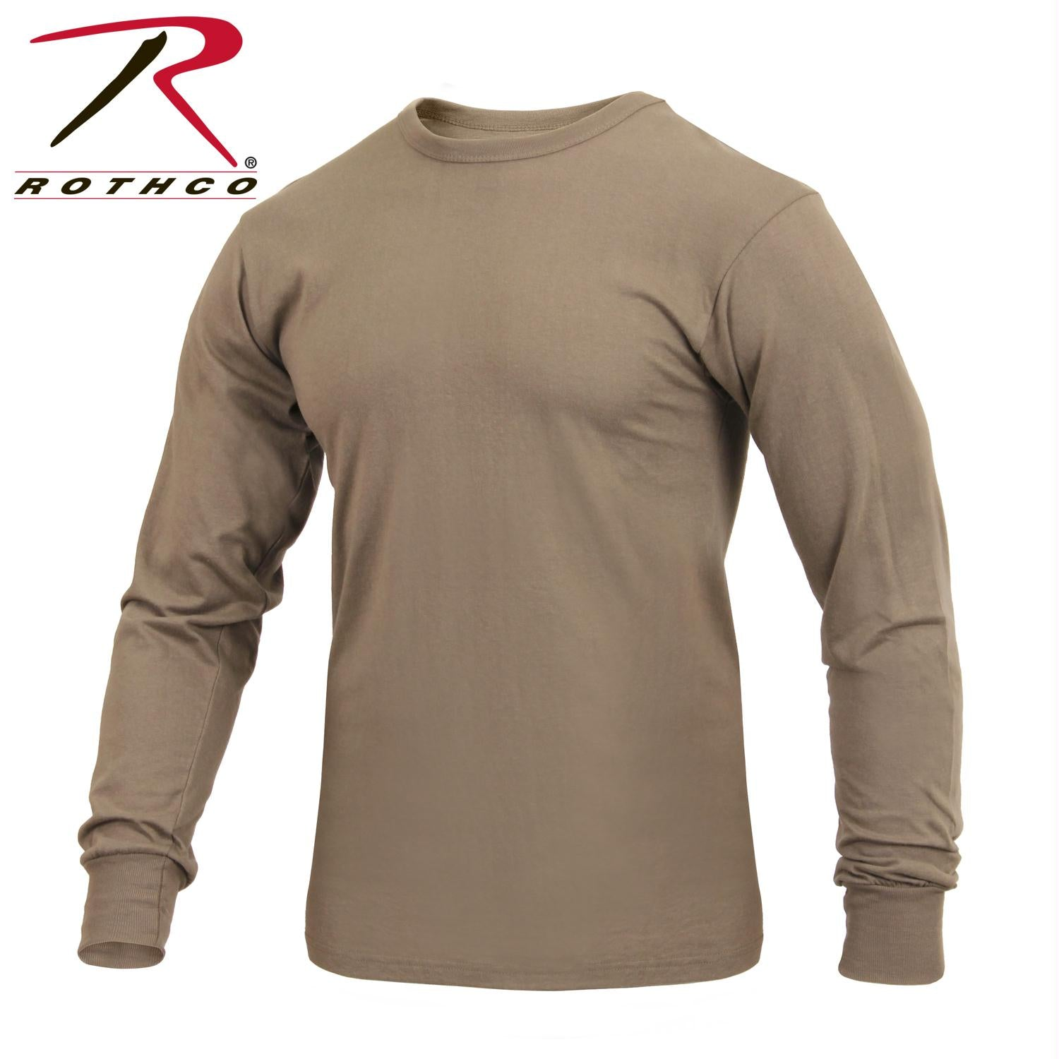 Rothco Long Sleeve Solid T-Shirt - AR 670-1 Coyote Brown / 3XL