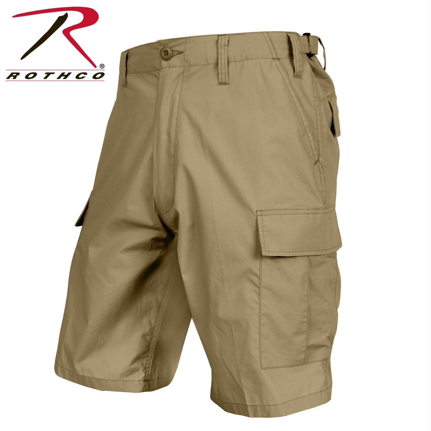 Rothco Lightweight Tactical BDU Shorts - Khaki / S