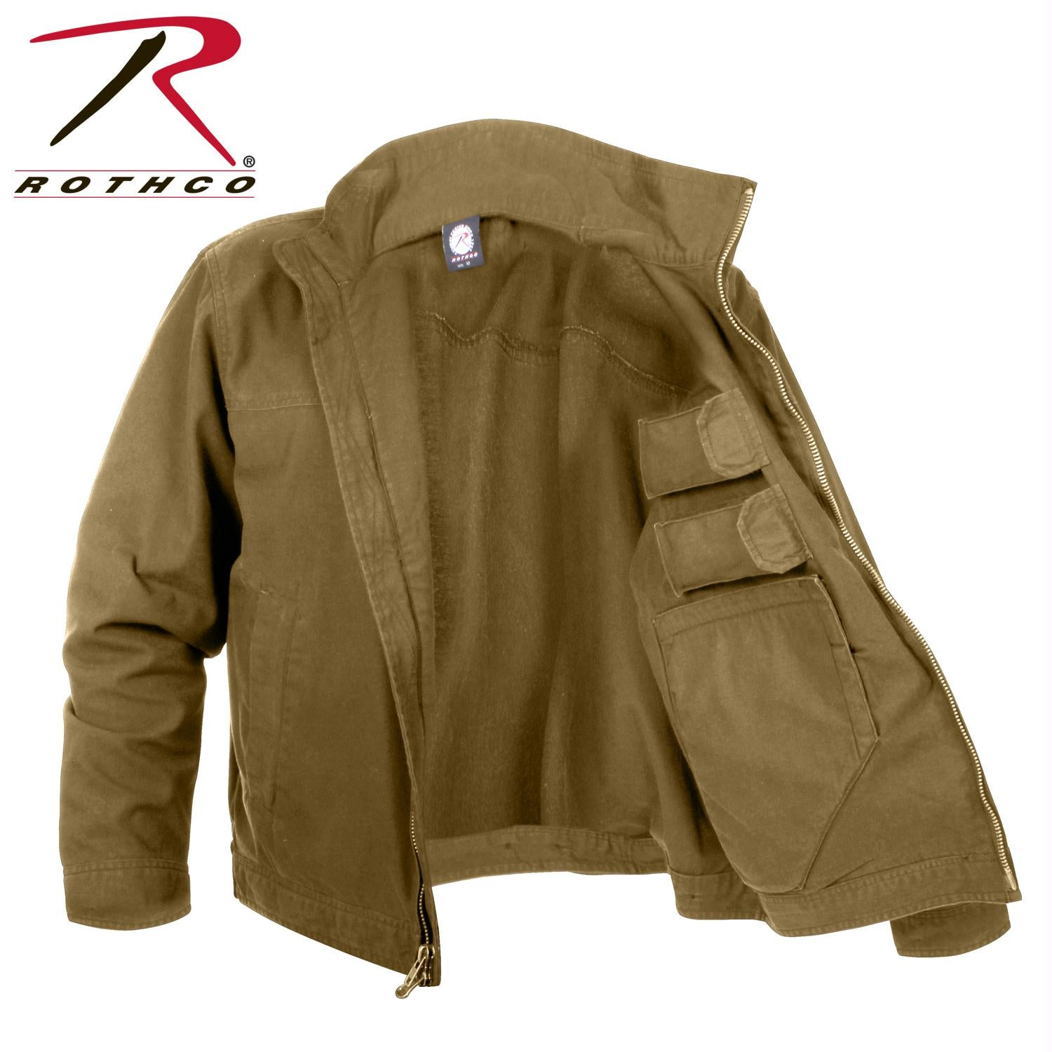 Rothco Lightweight Concealed Carry Jacket - Coyote Brown / M