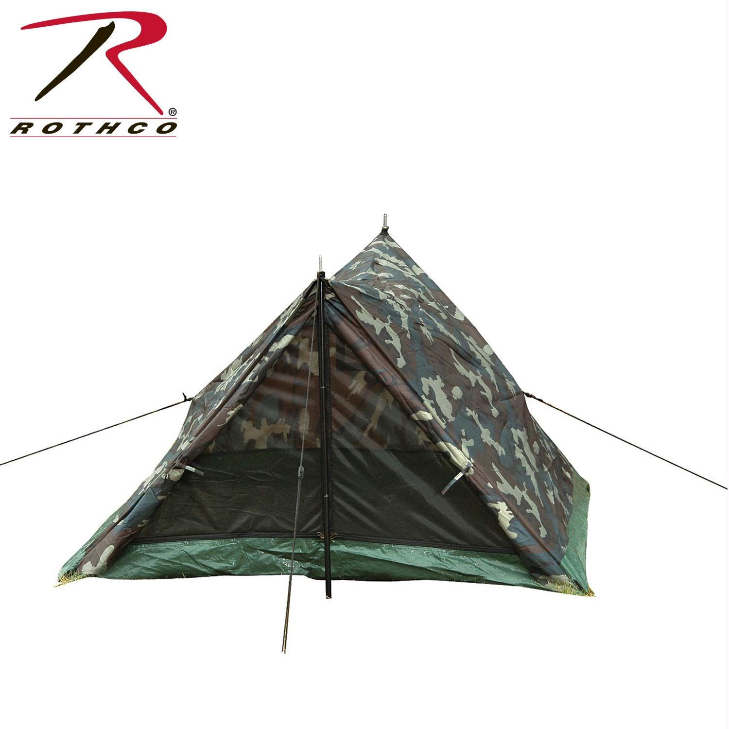 Rothco Camo Two Man Trail Tent - Woodland Camo