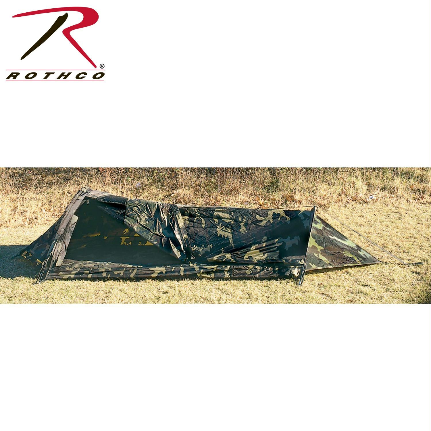 Rothco G.I Type Camouflage Bivouac Shelter - Woodland Camo / 6 Inches
