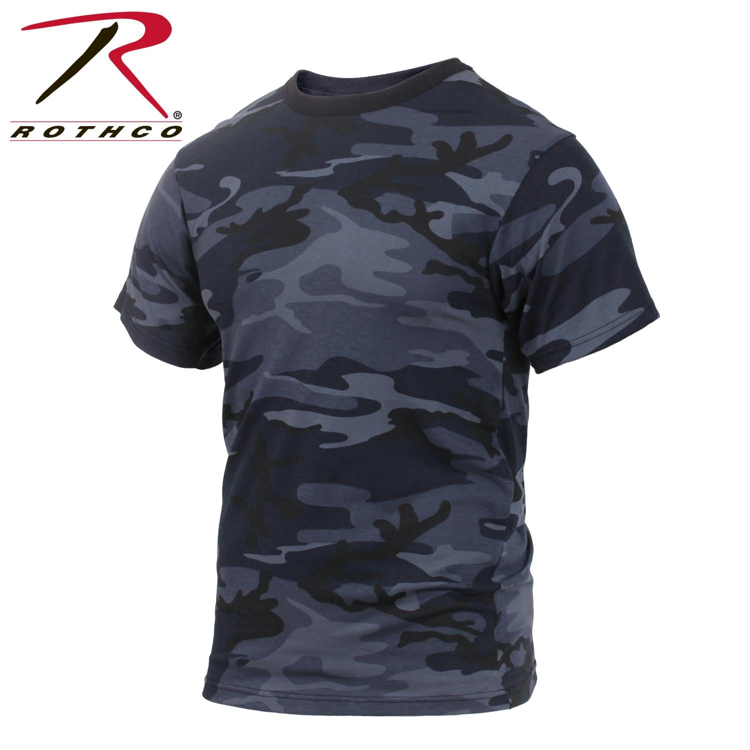 Rothco Colored Camo T-Shirts - Midnight Blue Camo / XL