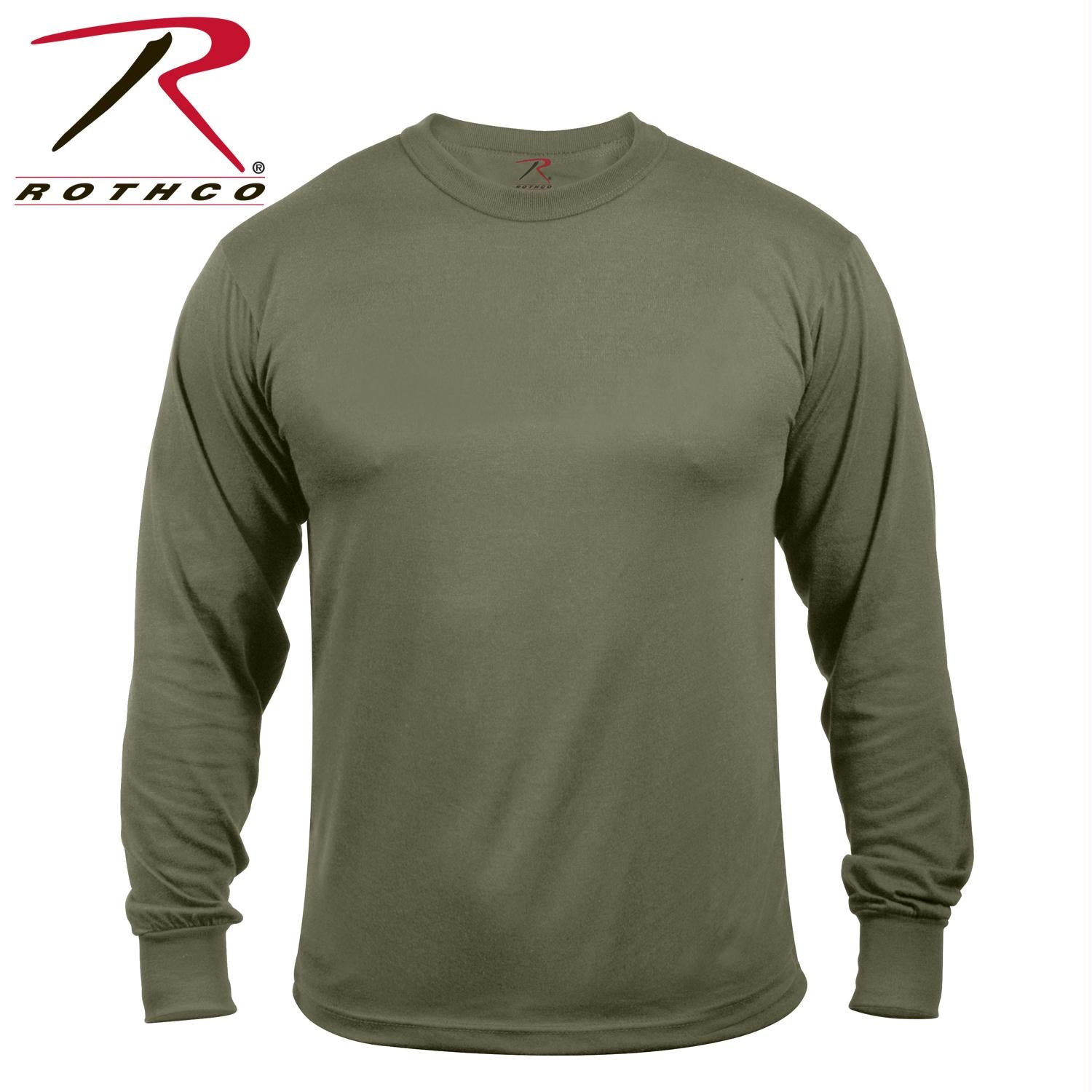 Rothco Moisture Wicking Long Sleeve T-Shirt - Olive Drab / XL