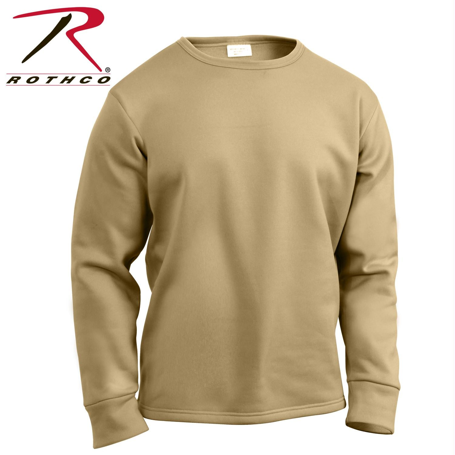 Rothco ECWCS Poly Crew Neck Top - AR 670-1 Coyote Brown / L