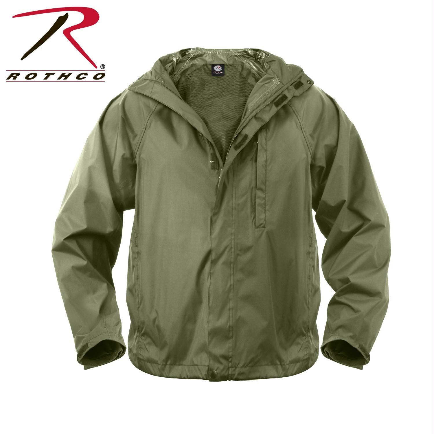 Rothco Packable Rain Jacket - Olive Drab / L