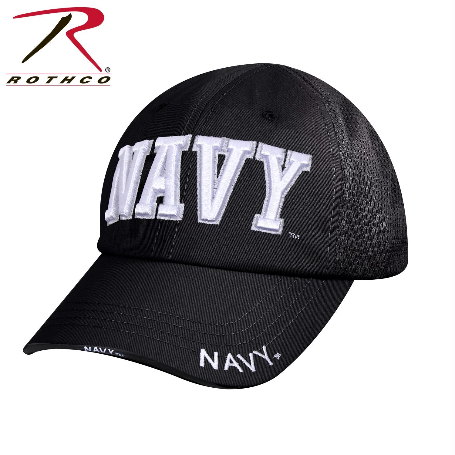 Rothco Navy Mesh Back Tactical Cap - Black / One Size
