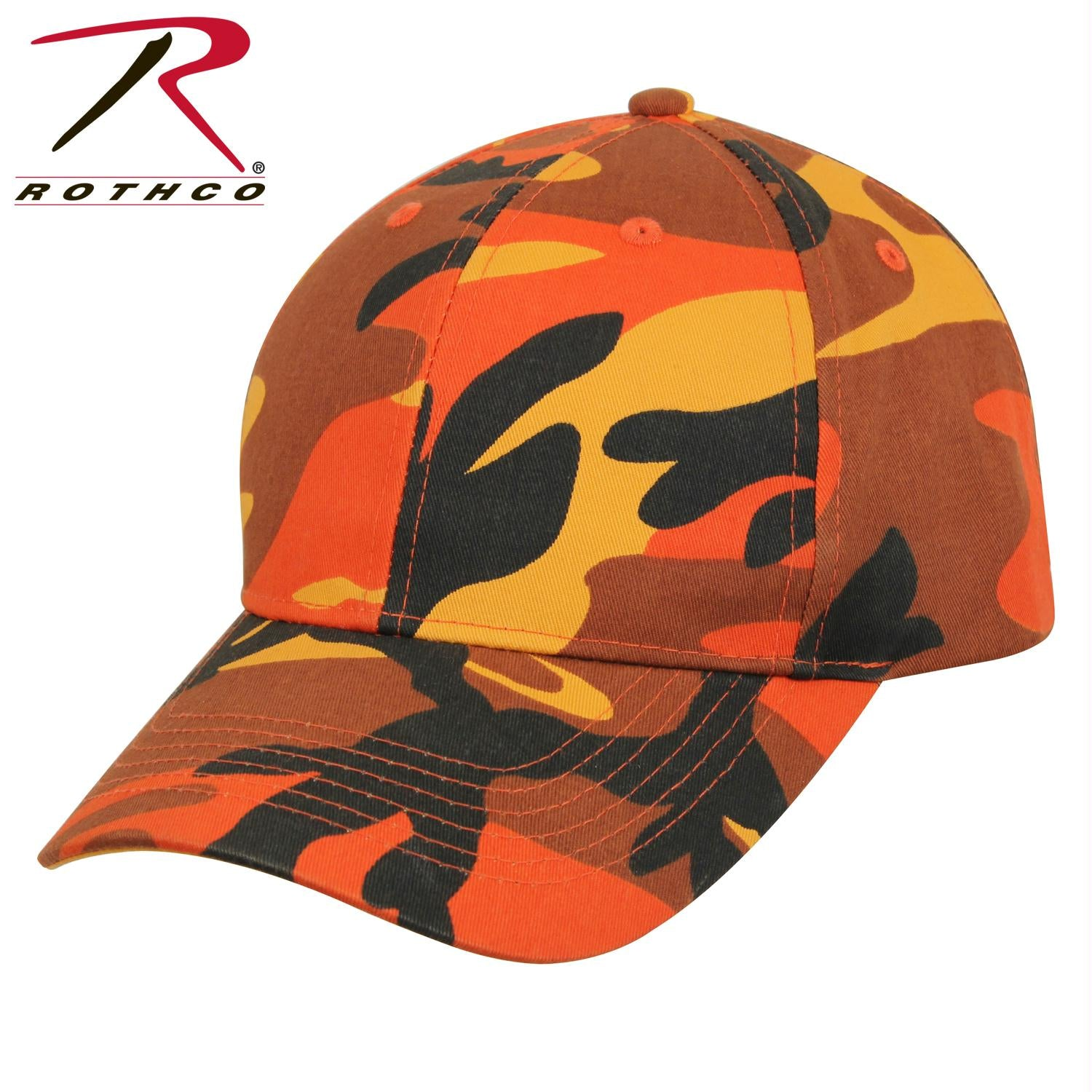 Rothco Supreme Camo Low Profile Cap - Savage Orange Camo / One Size