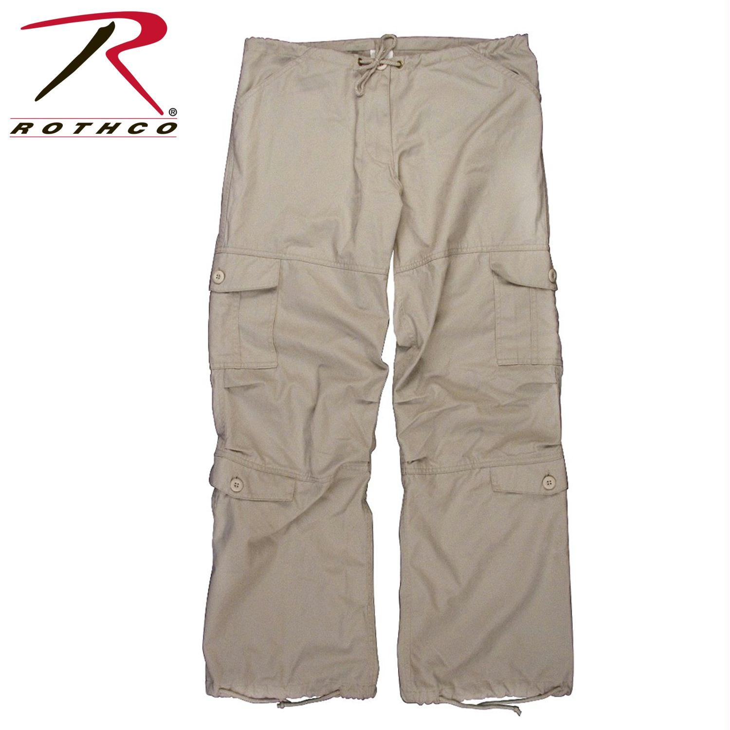 Rothco Women's Vintage Paratrooper Fatigue Pants - Stone / XL