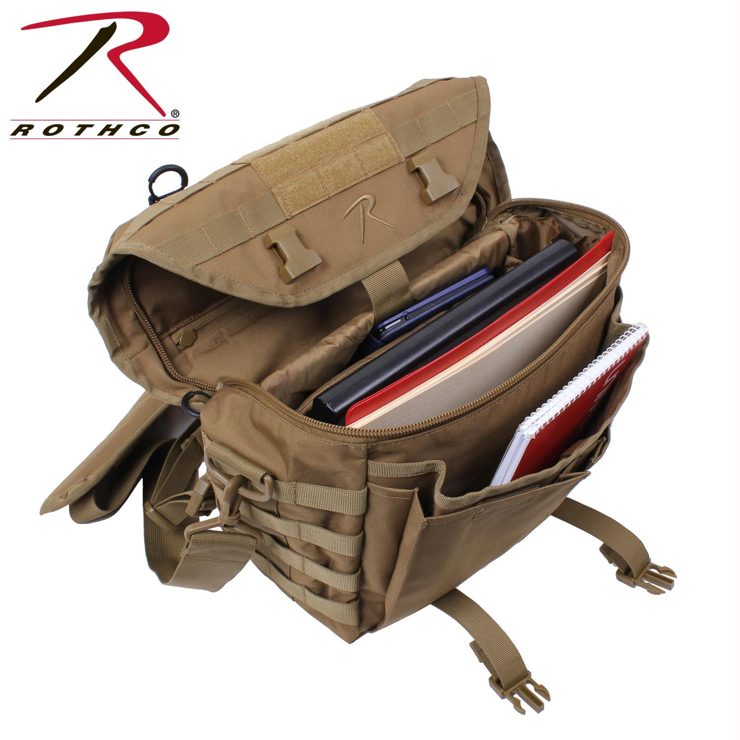 Rothco Covert Dispatch Tactical Shoulder Bag - Coyote Brown