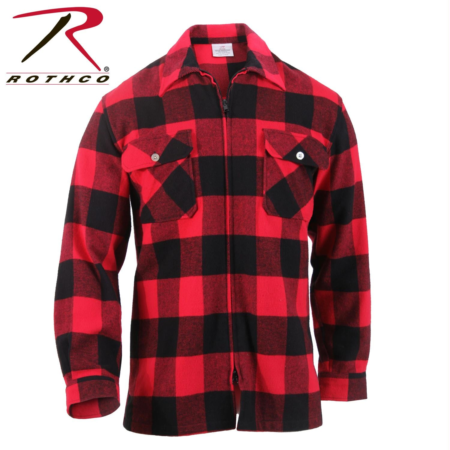 Rothco Concealed Carry Flannel Shirt - Red / L