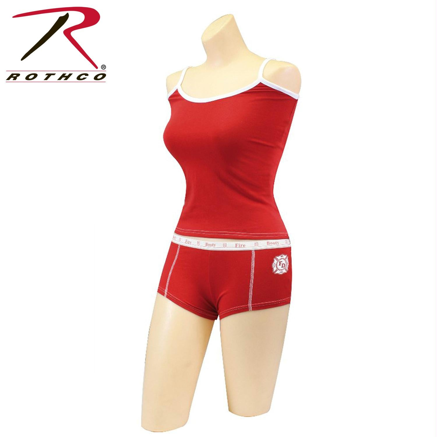 Rothco Red Firefighter ''Hot Booty'' Booty Shorts & Tank Top