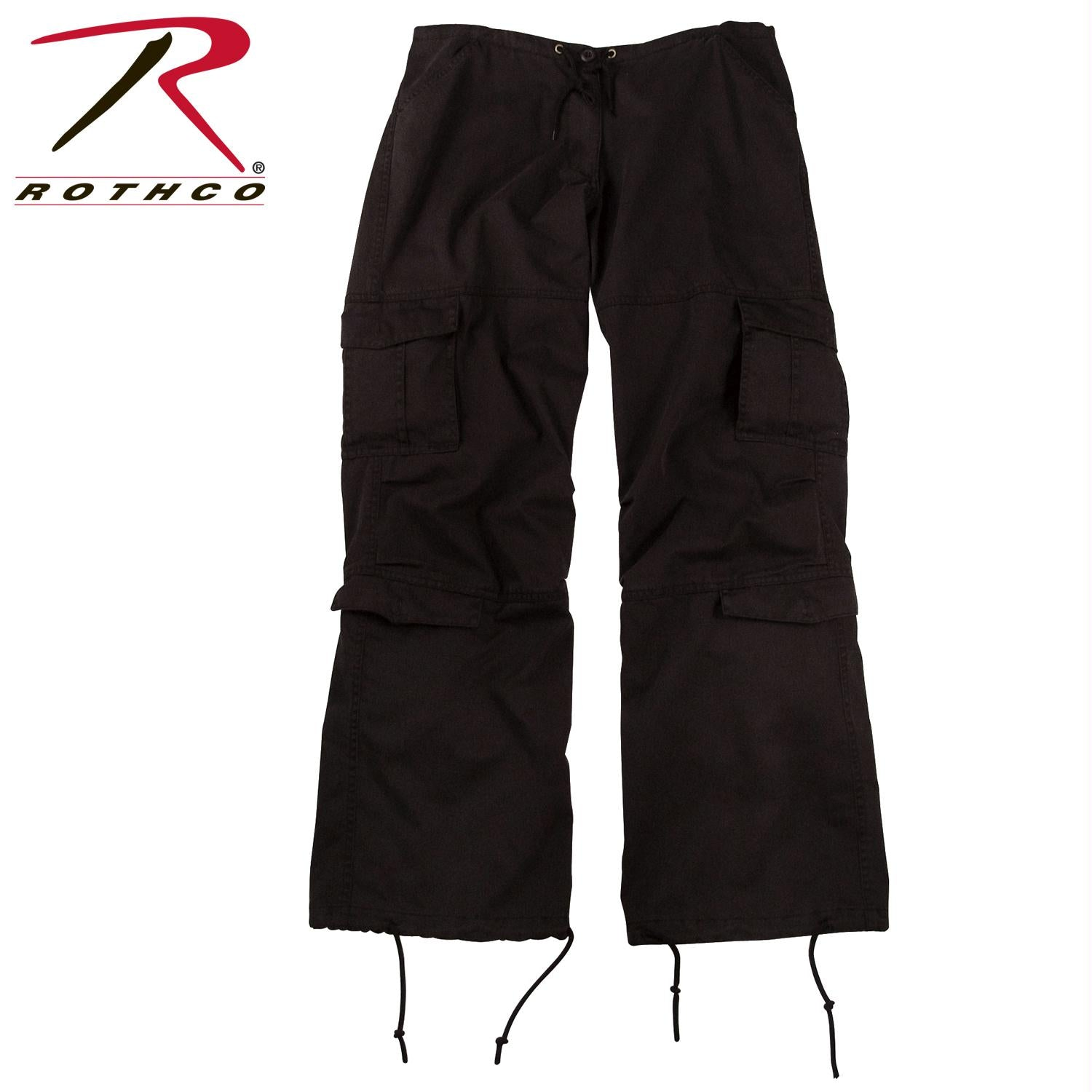Rothco Women's Vintage Paratrooper Fatigue Pants - Black / S