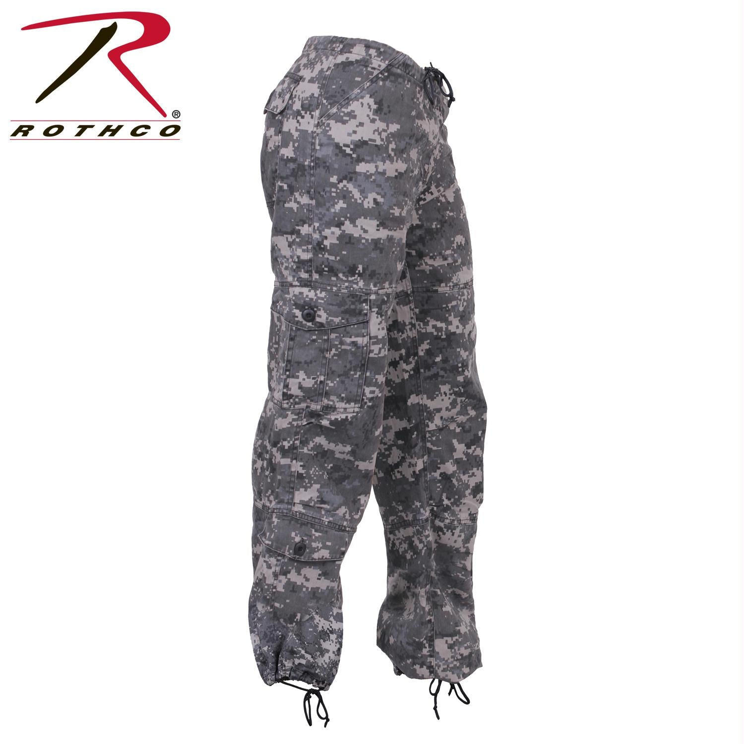 Rothco Womens Camo Vintage Paratrooper Fatigue Pants - Subdued Urban Digital Camo / L