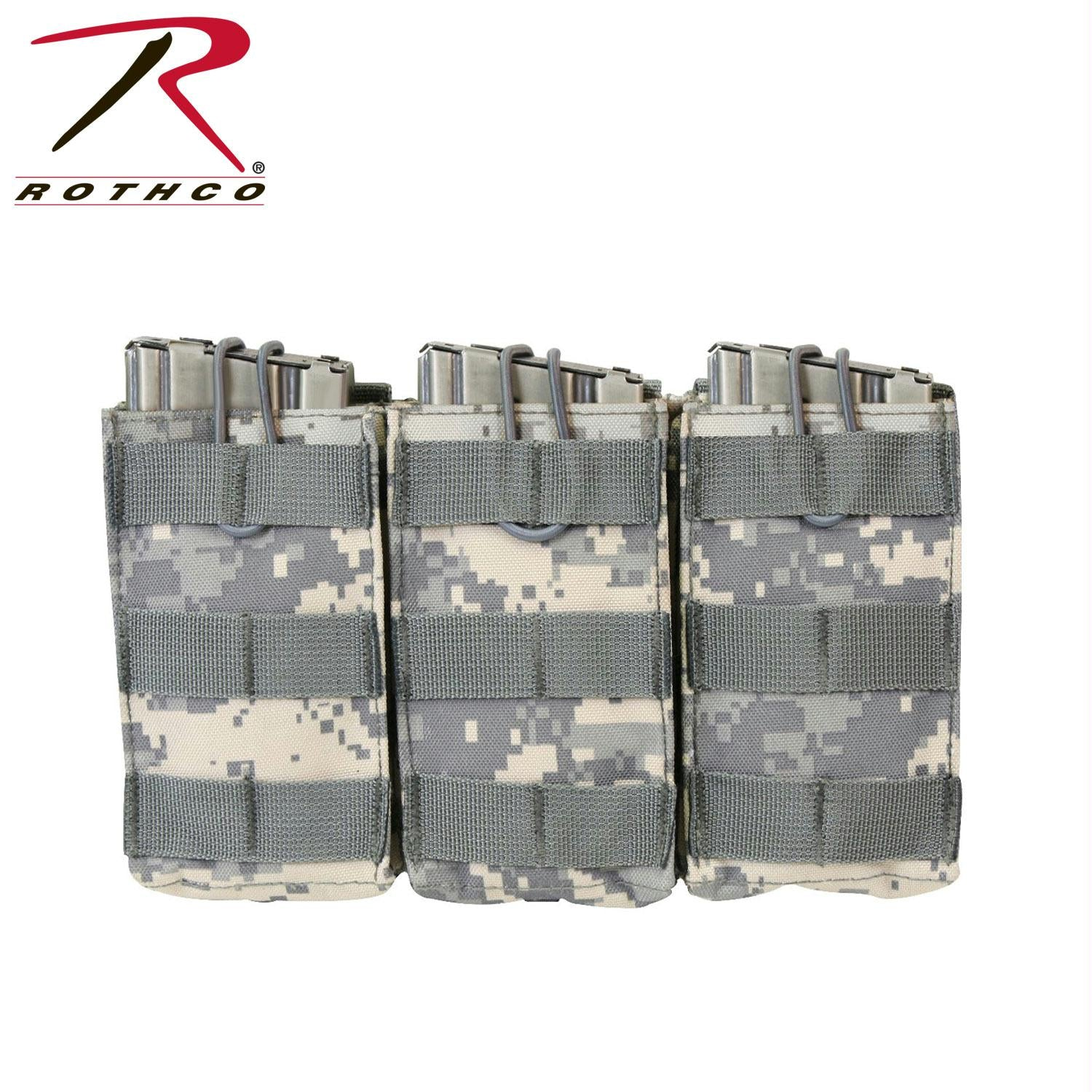 Rothco MOLLE Open Top Triple Mag Pouch - ACU Digital Camo