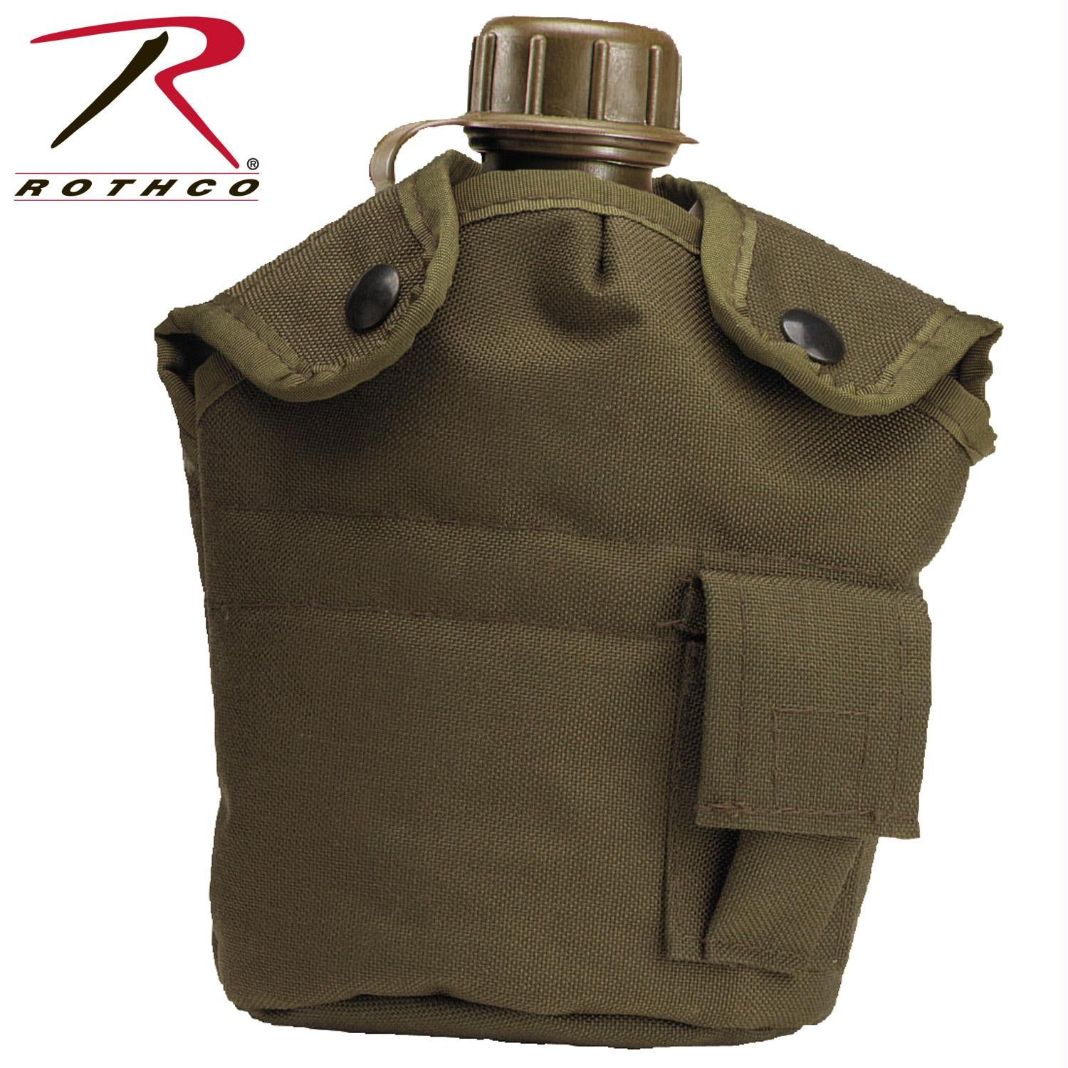 Rothco G.I. Type Enhanced Nylon 1qt. Canteen Cover - Olive Drab