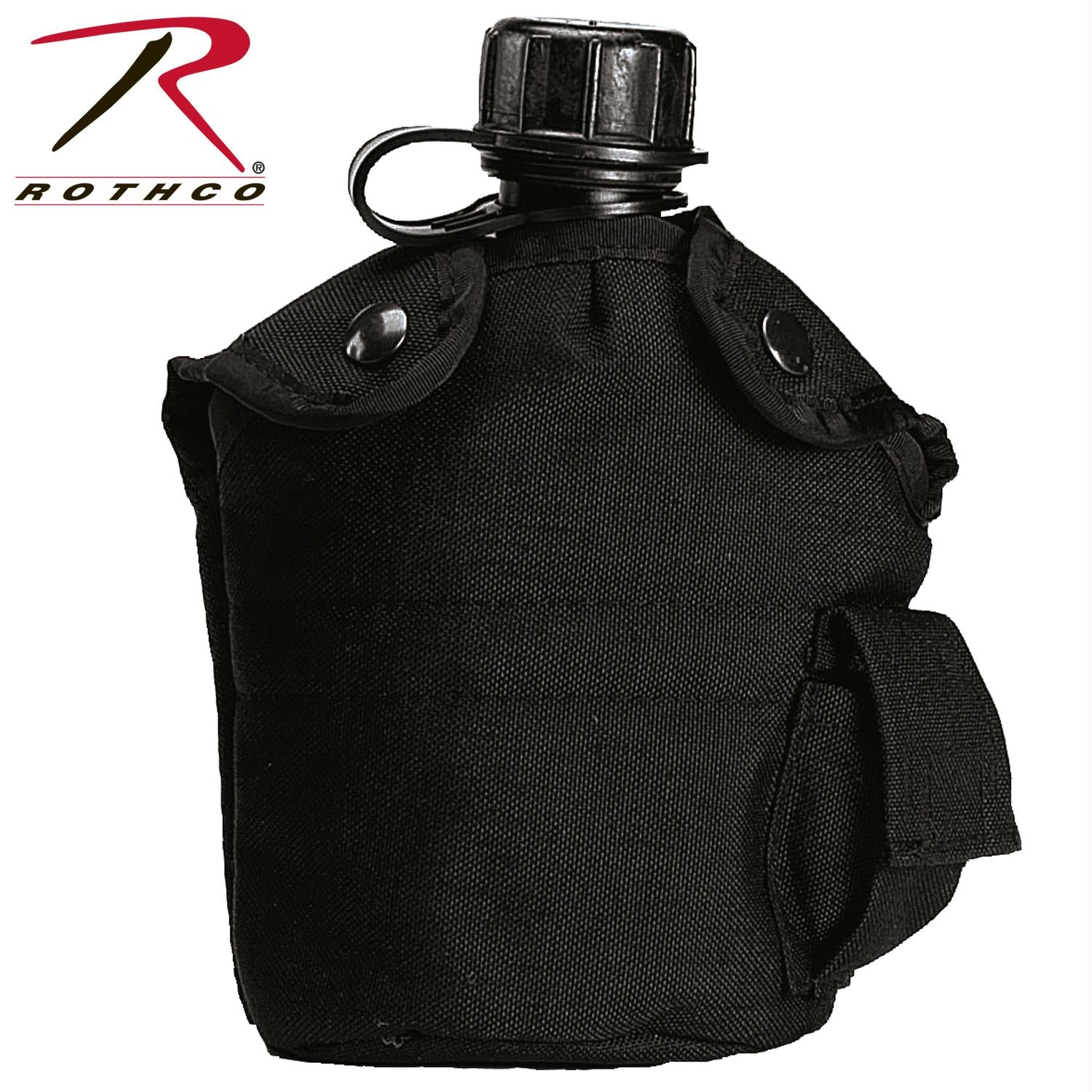 Rothco G.I. Type Enhanced Nylon 1qt. Canteen Cover - Black