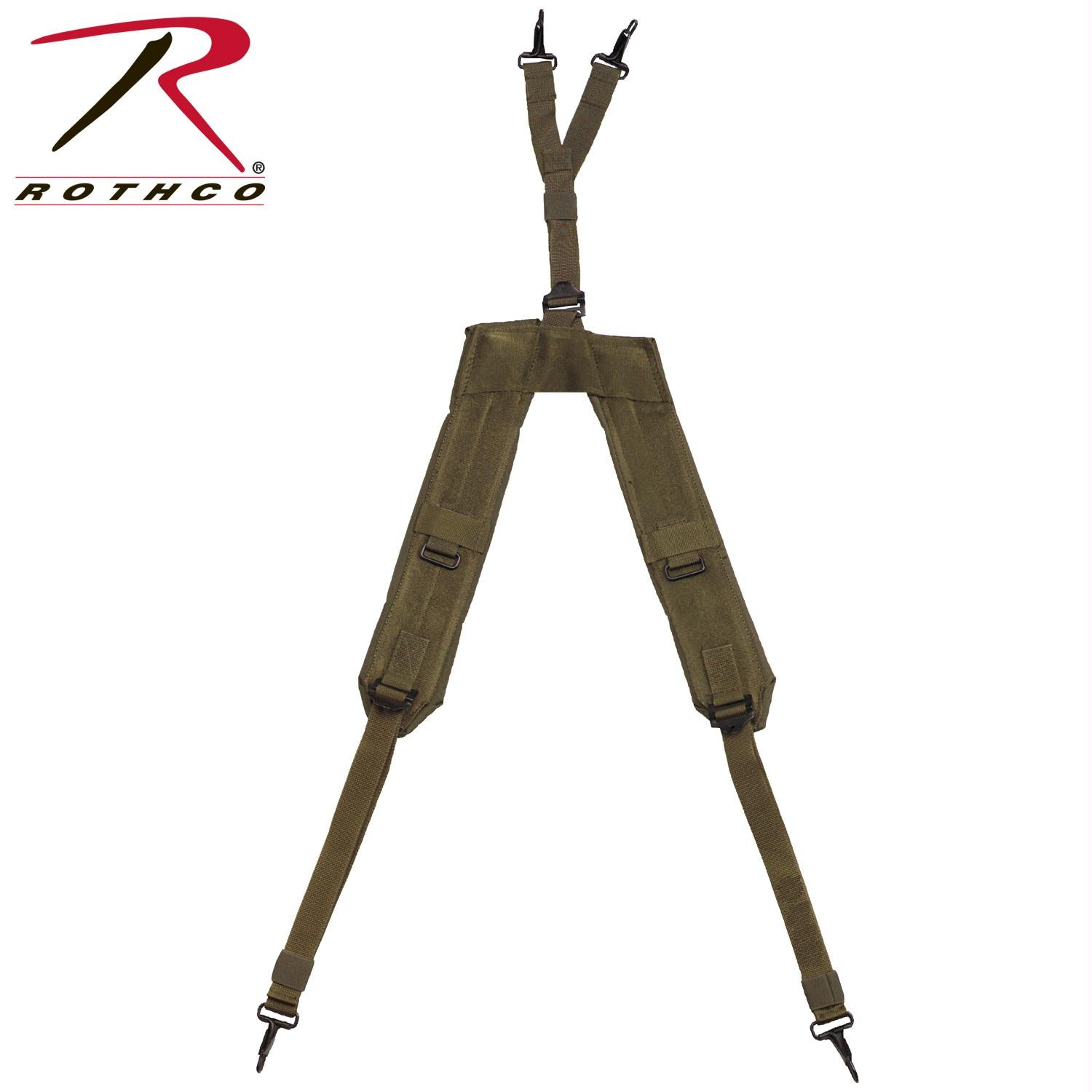 Rothco GI Type Enhanced ''Y'' LC-1 Suspenders - Olive Drab