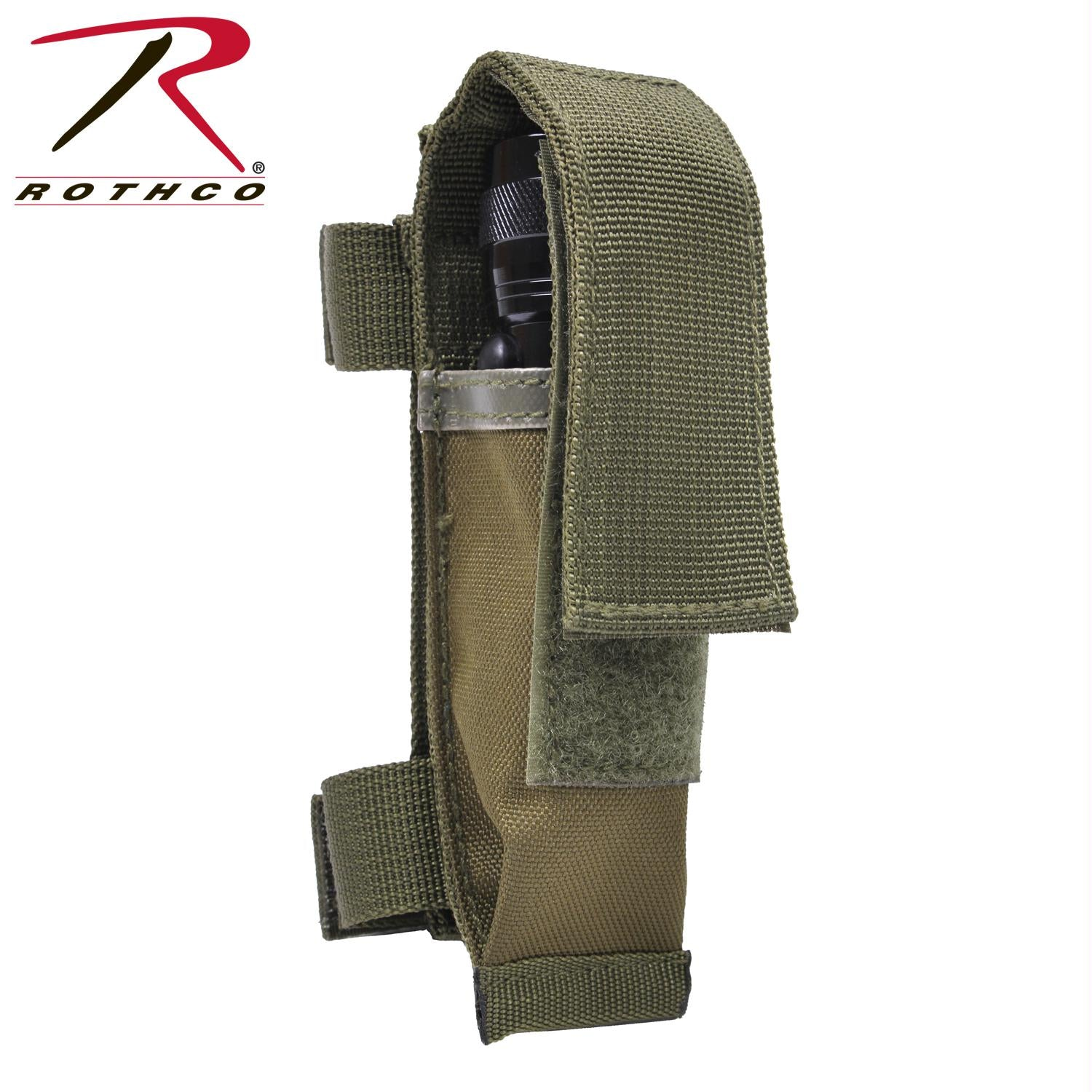 Rothco MOLLE Compatible Knife / Flashlight Sheath - Olive Drab