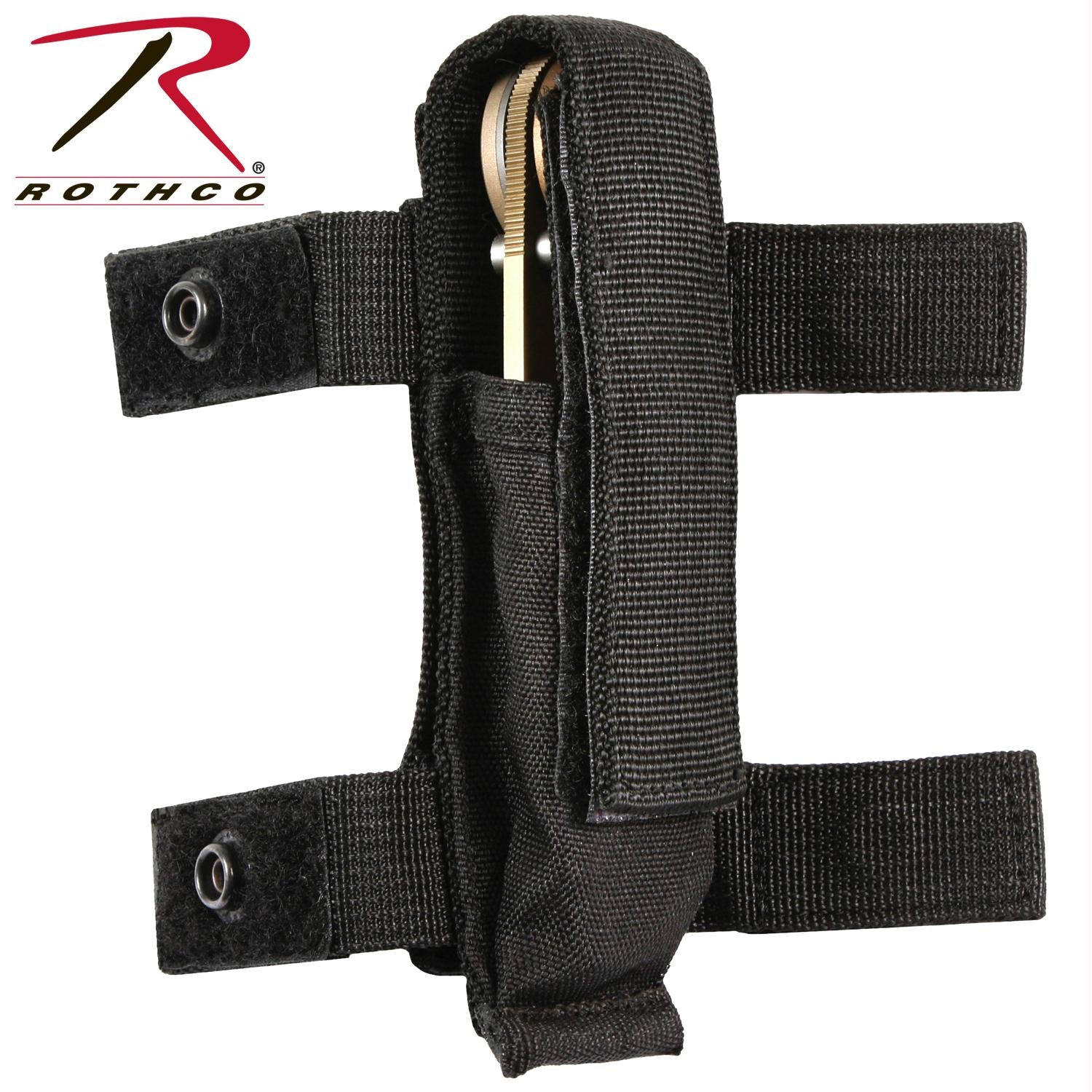 Rothco MOLLE Compatible Knife / Flashlight Sheath - Black