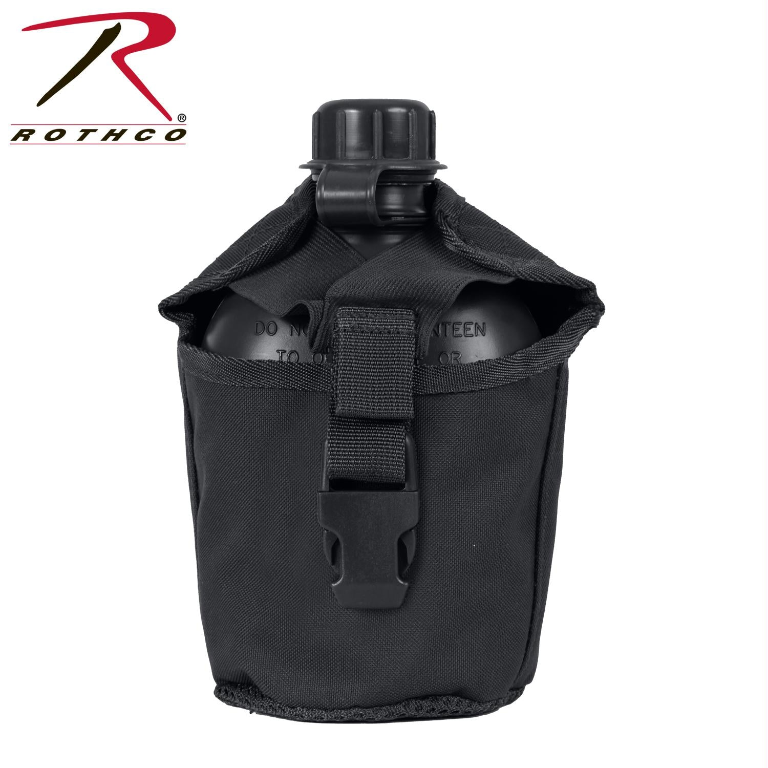 Rothco MOLLE Compatible 1 Quart Canteen Cover - Black