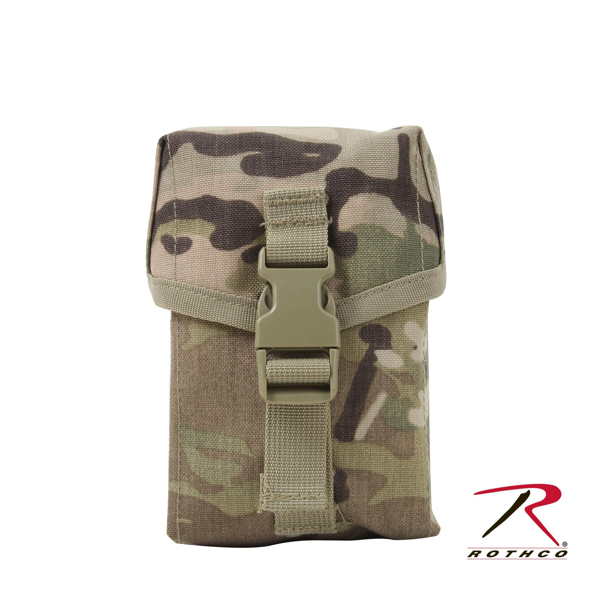 Rothco MOLLE II100 Round Saw Pouch - MultiCam