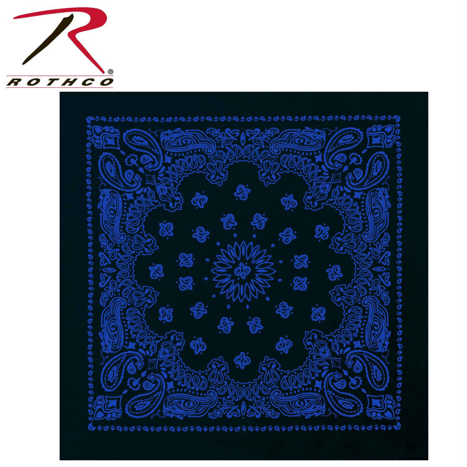 Rothco Trainmen Bandana - Black / Blue