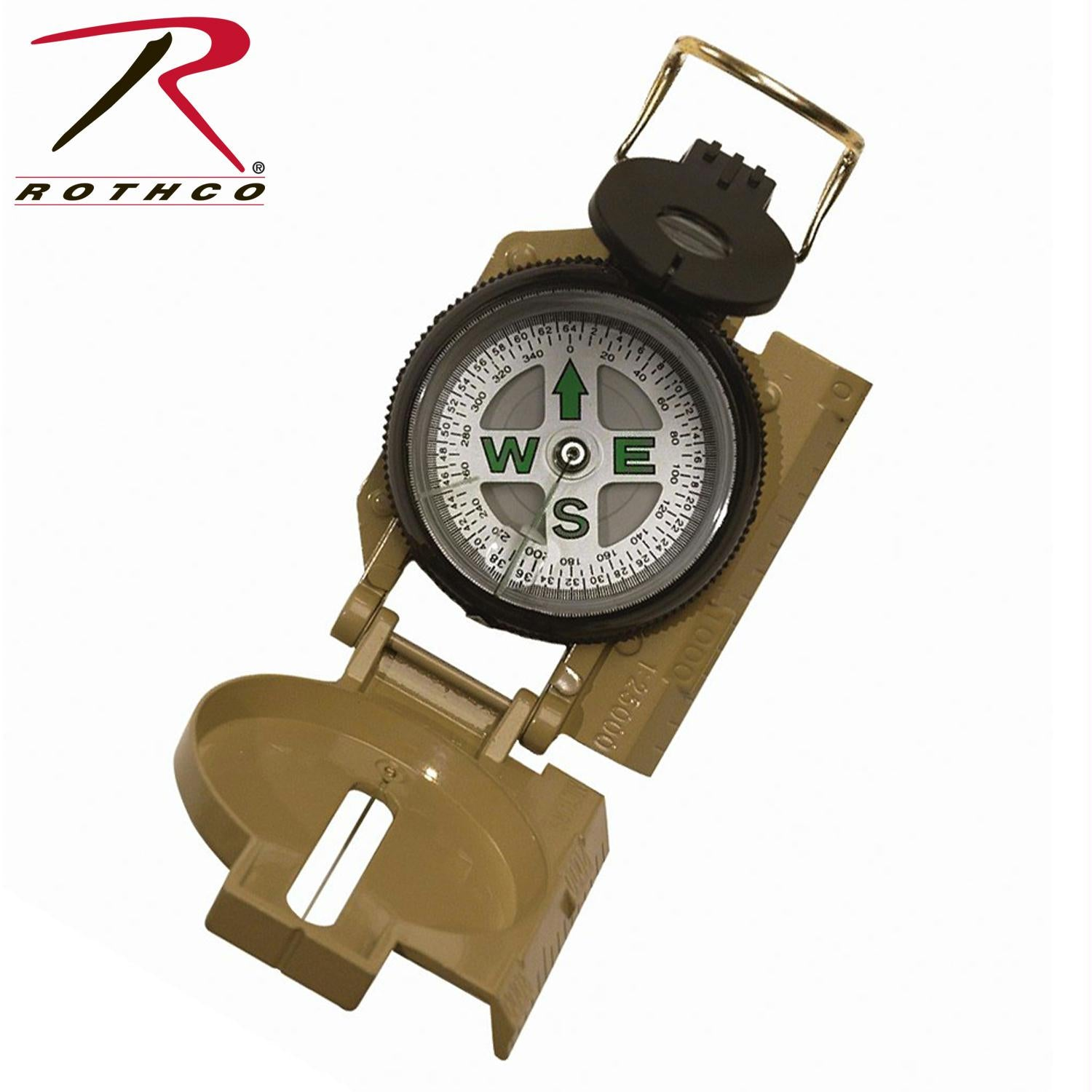 Rothco Military Marching Compass - Tan