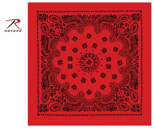 Rothco Trainmen Bandana - Red / Black