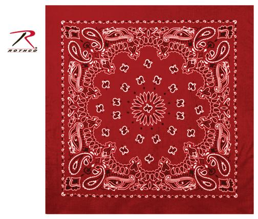 Rothco Trainmen Bandana - Red / White