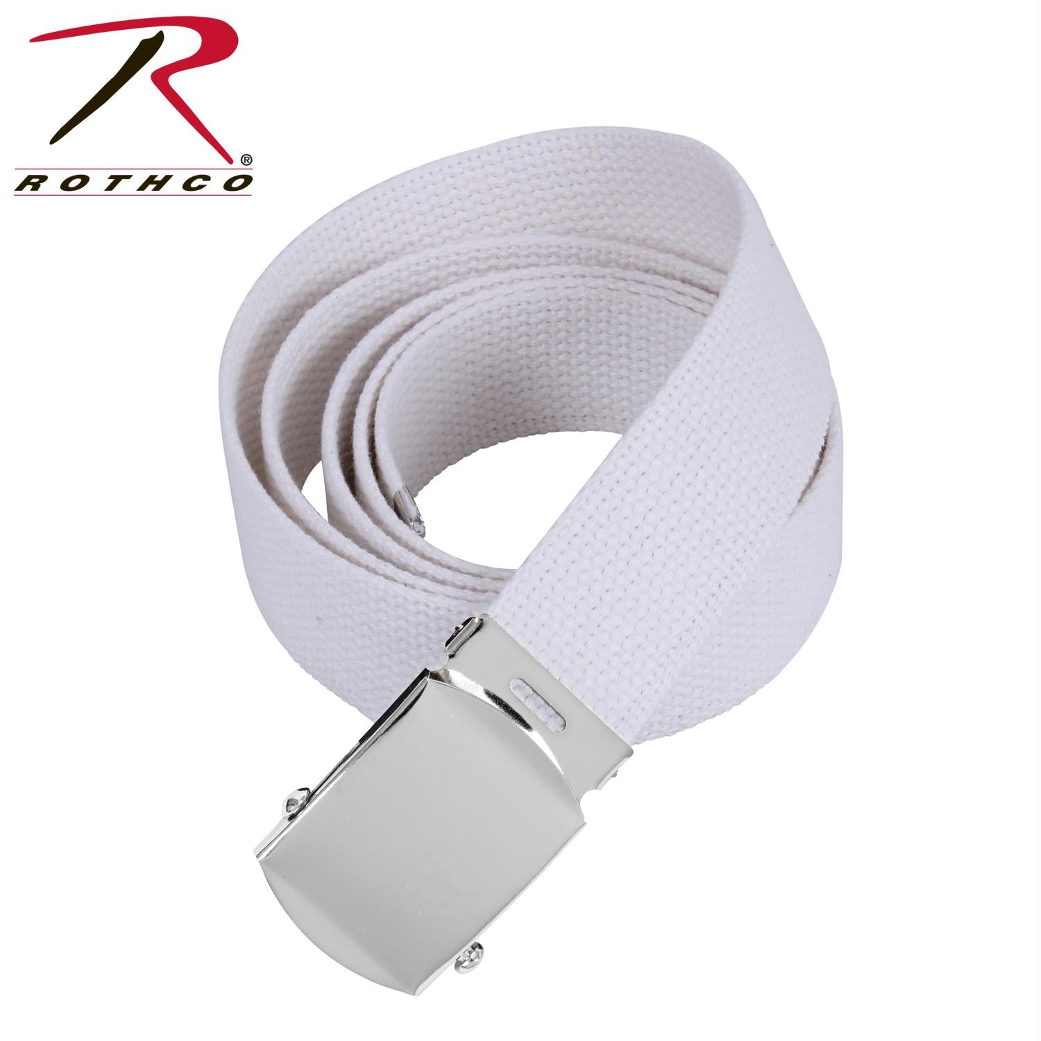 Rothco 54 Inch Military Web Belts - Chrome / White