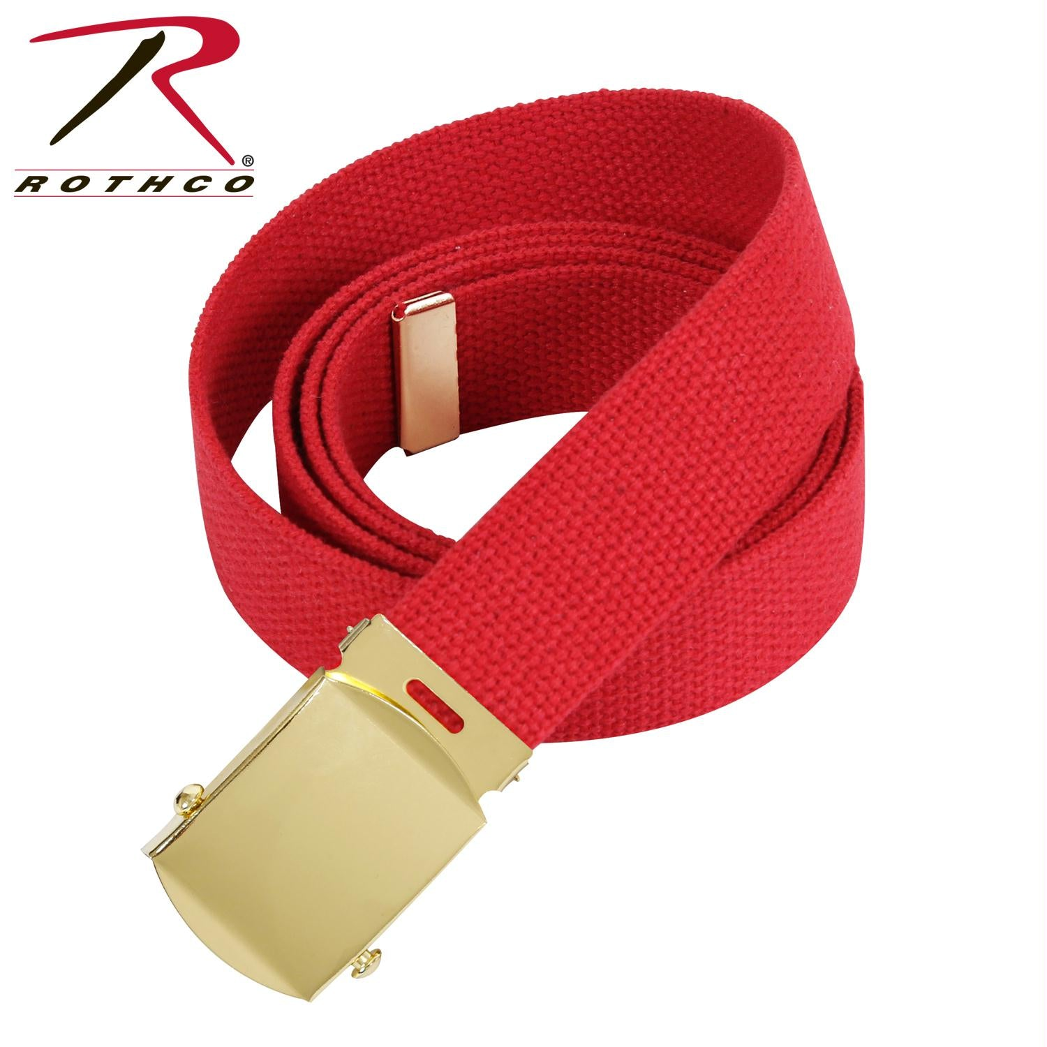 Rothco 54 Inch Military Web Belts - Gold / Red