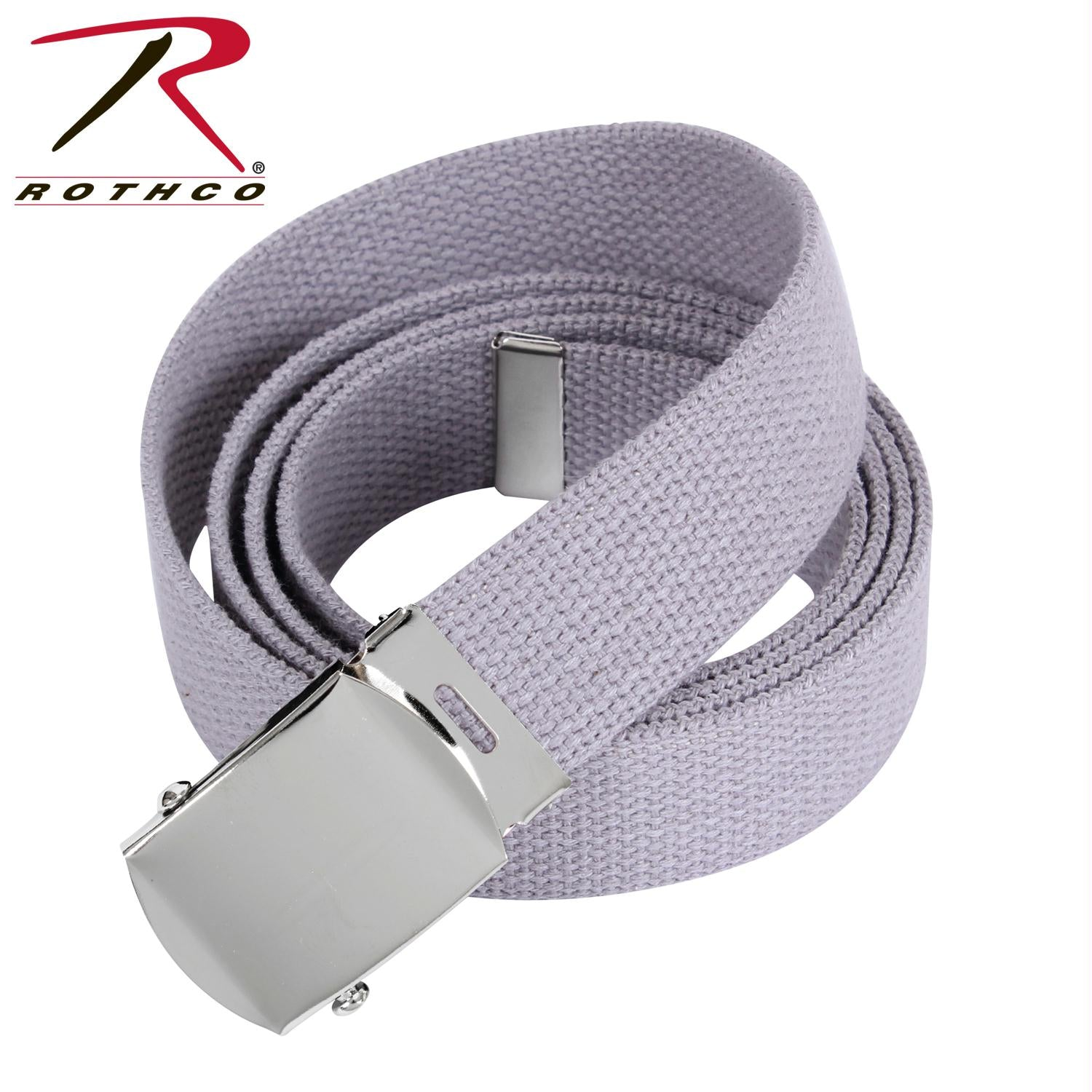 Rothco 54 Inch Military Web Belts - Chrome / Grey