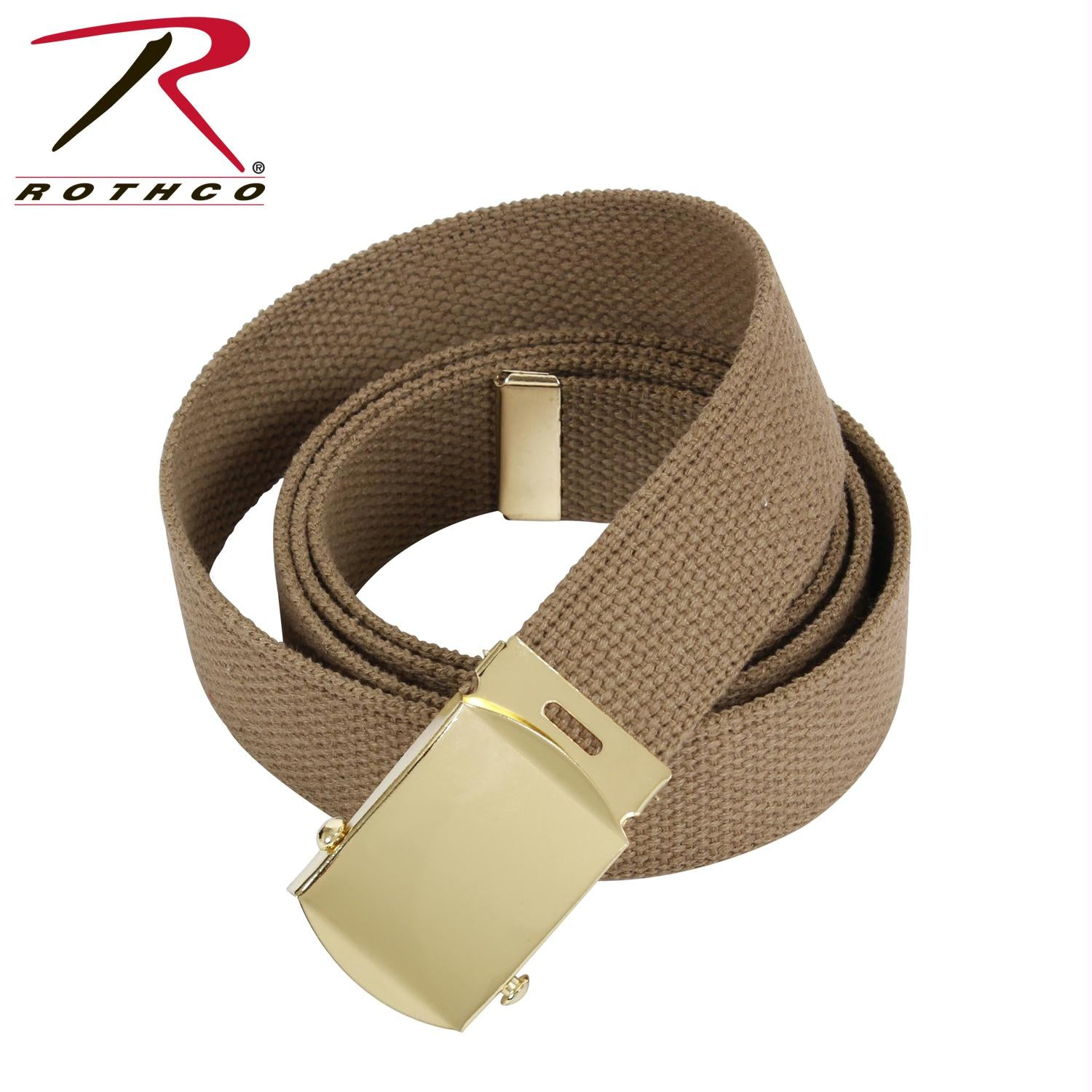 Rothco 54 Inch Military Web Belts - Gold / Coyote Brown
