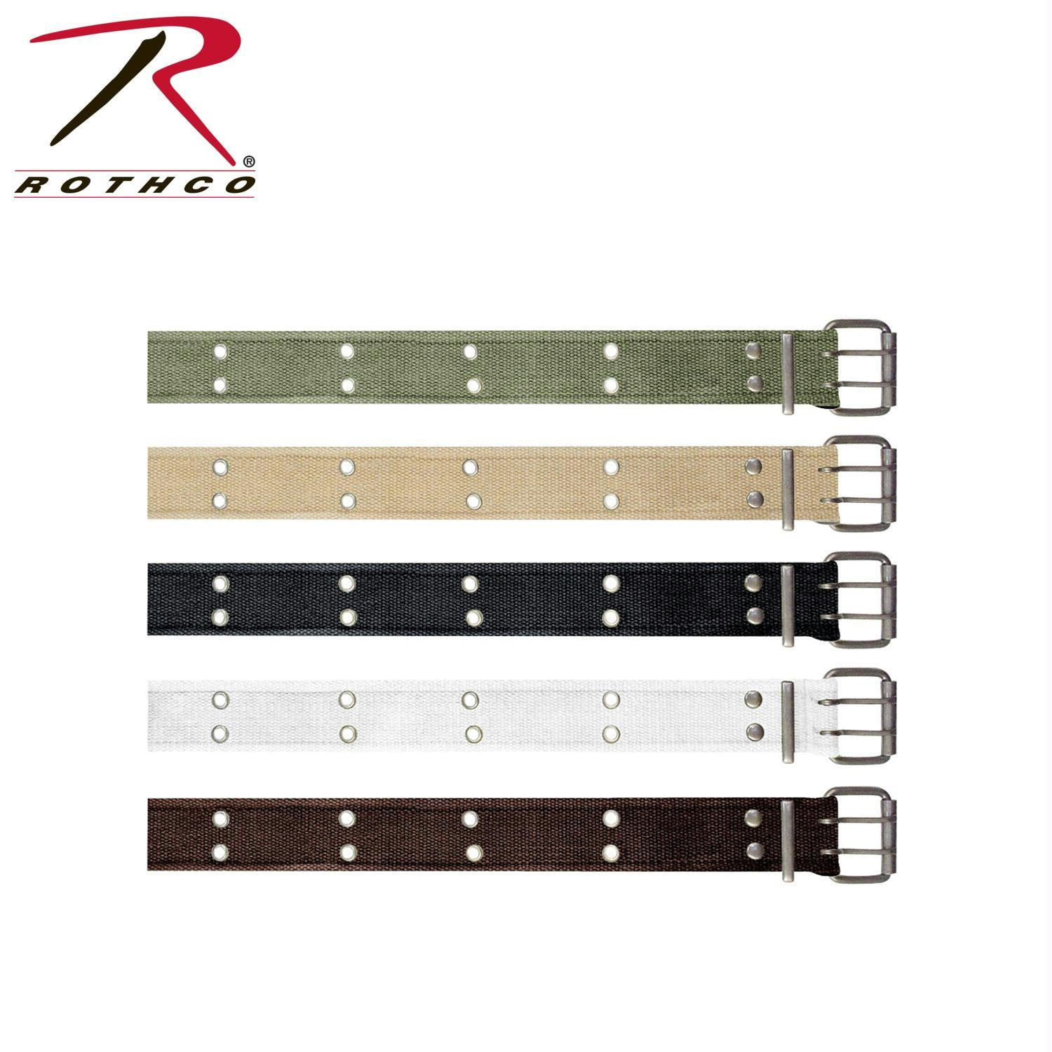 Rothco Vintage Double Prong Buckle Belt - Khaki / M